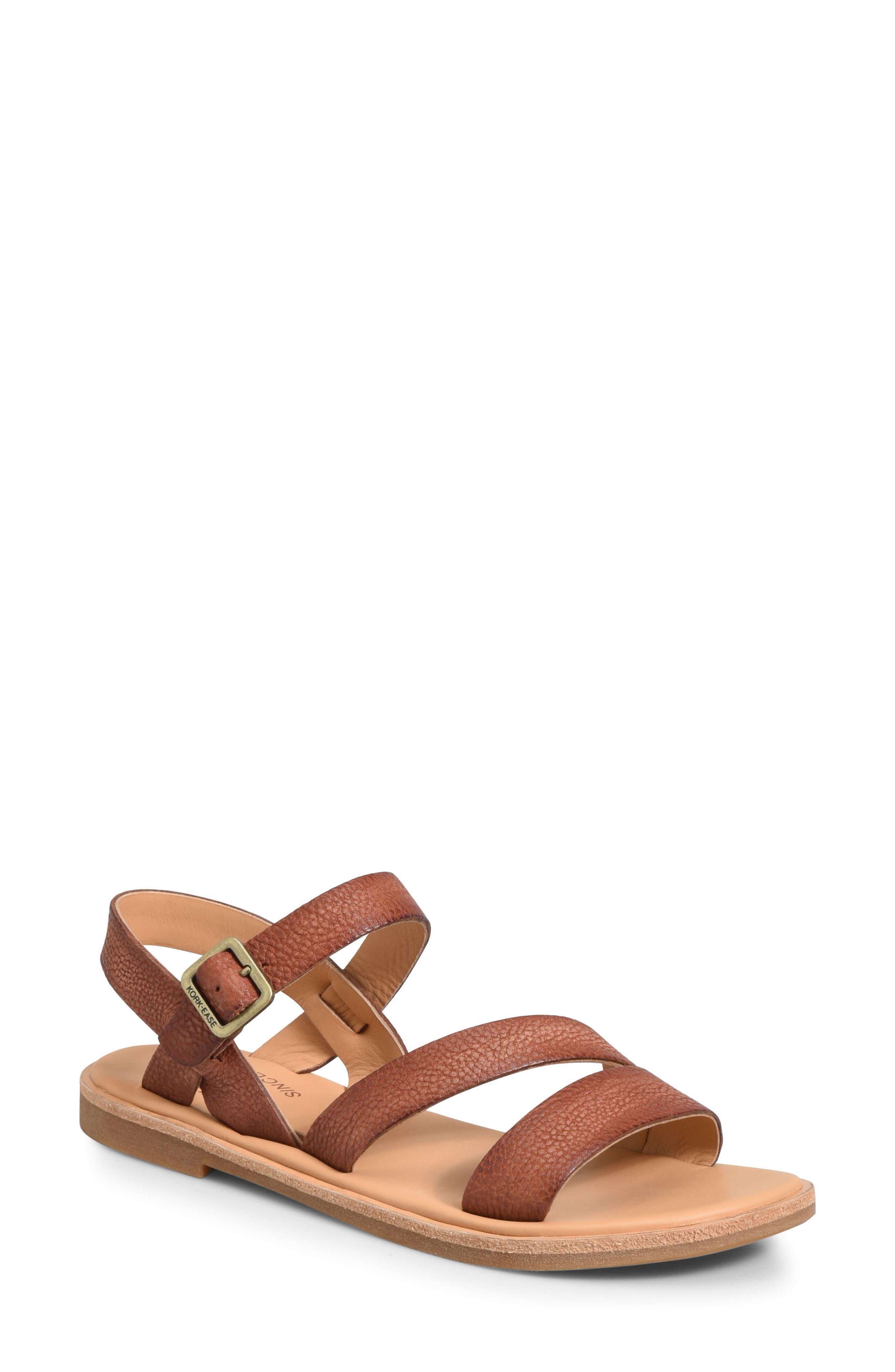 Nogales Sandal,                             Main thumbnail 1, color,                             Brown Leather