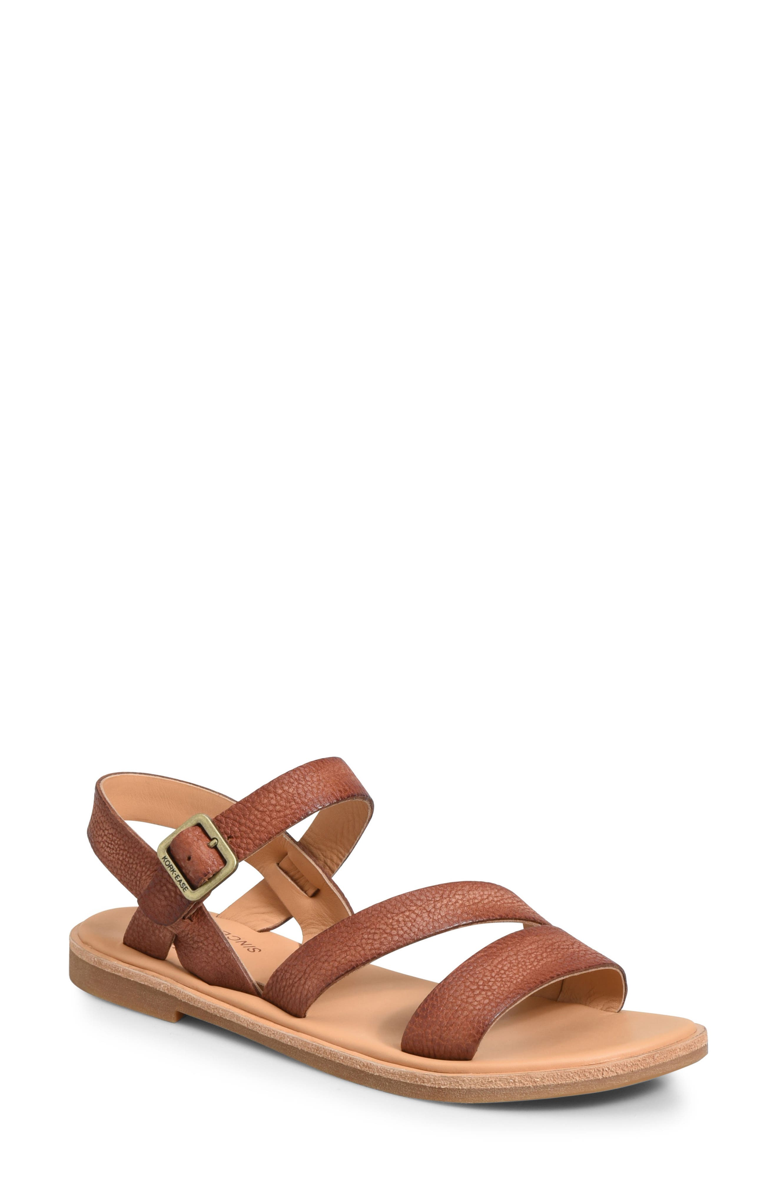 Nogales Sandal,                         Main,                         color, Brown Leather