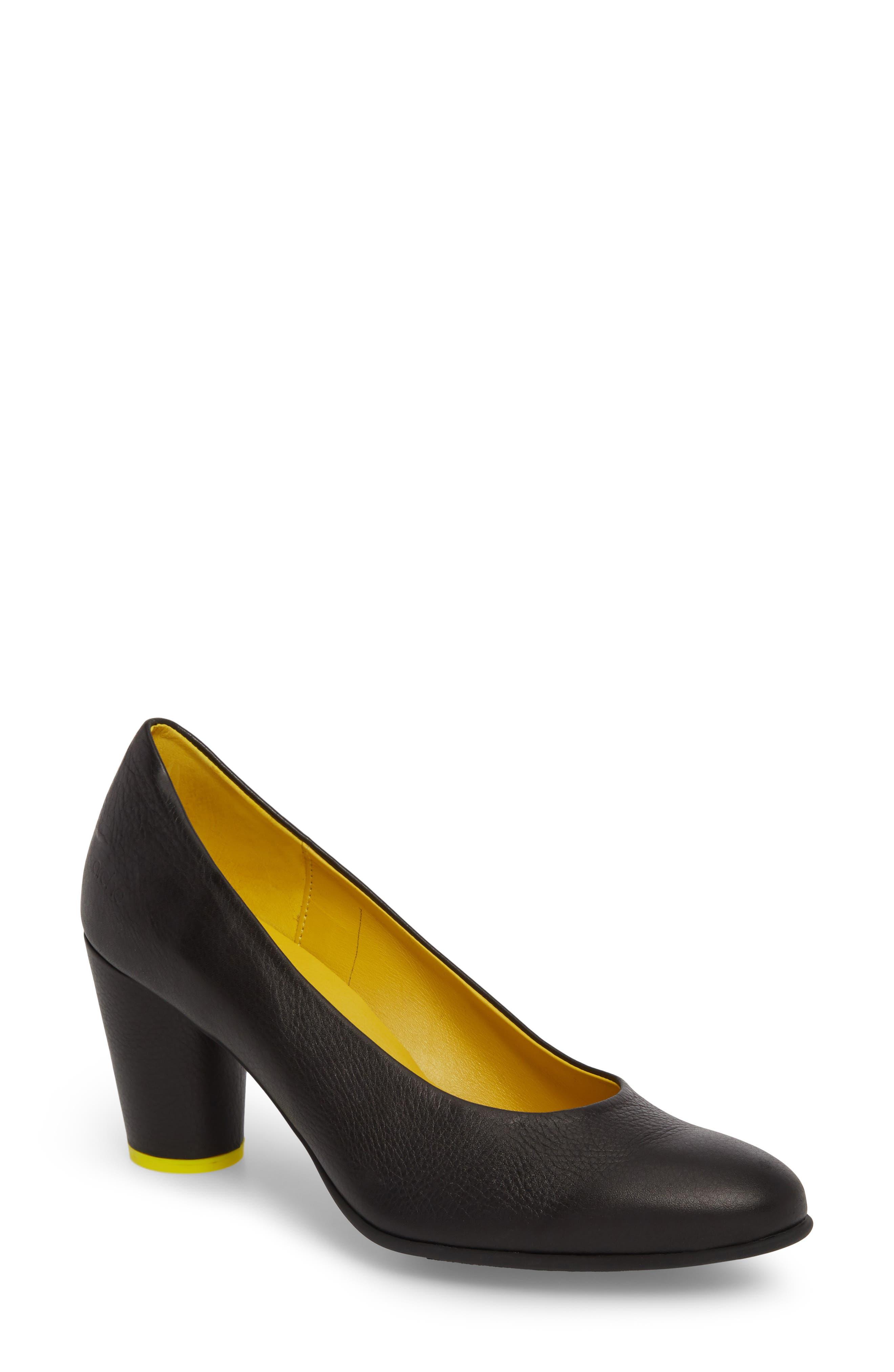 Kloemi Pump,                             Main thumbnail 1, color,                             Noir/ Mimosa Leather