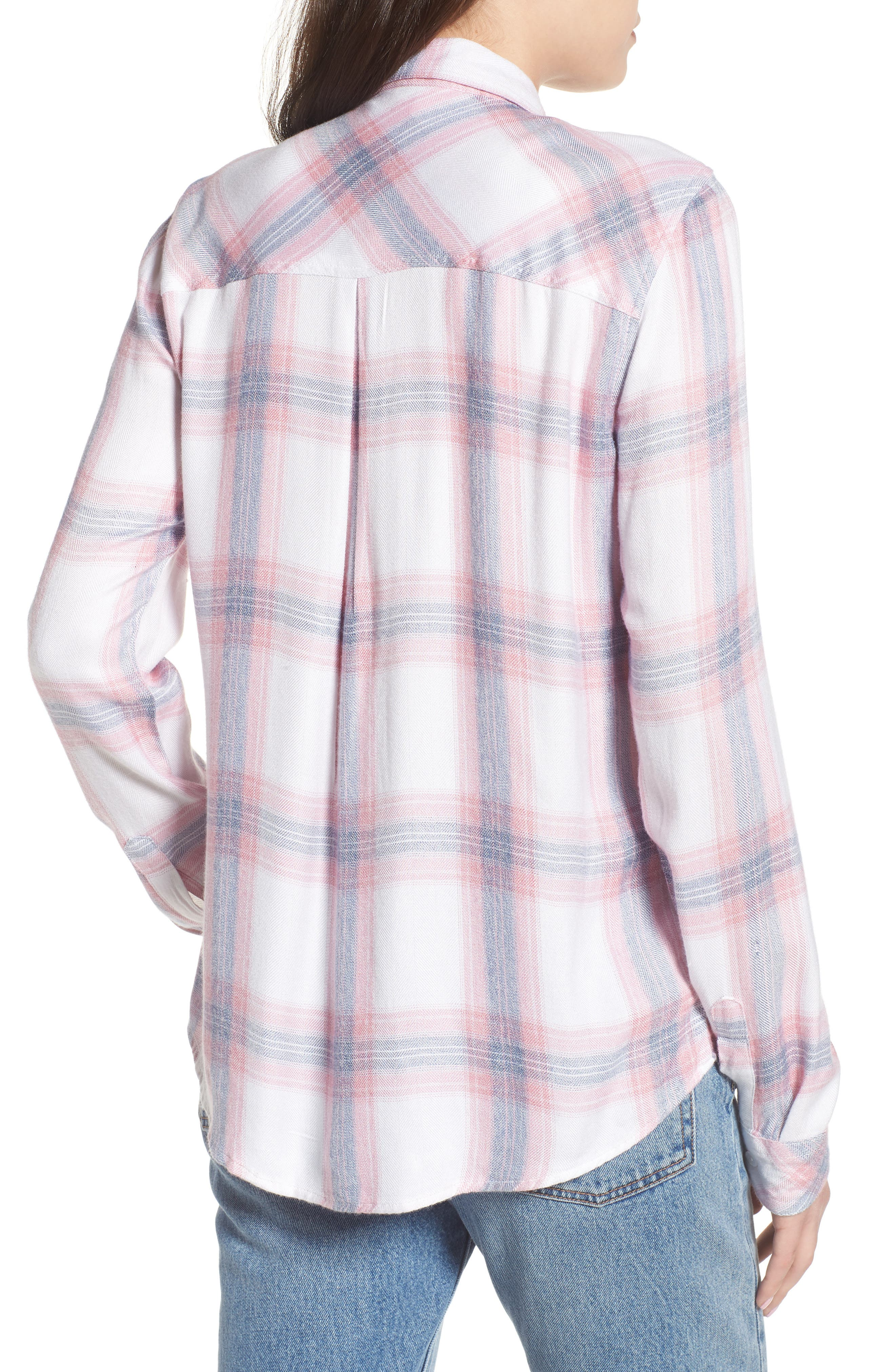 Carina Plaid Shirt,                             Alternate thumbnail 2, color,                             Red/ White Plaid