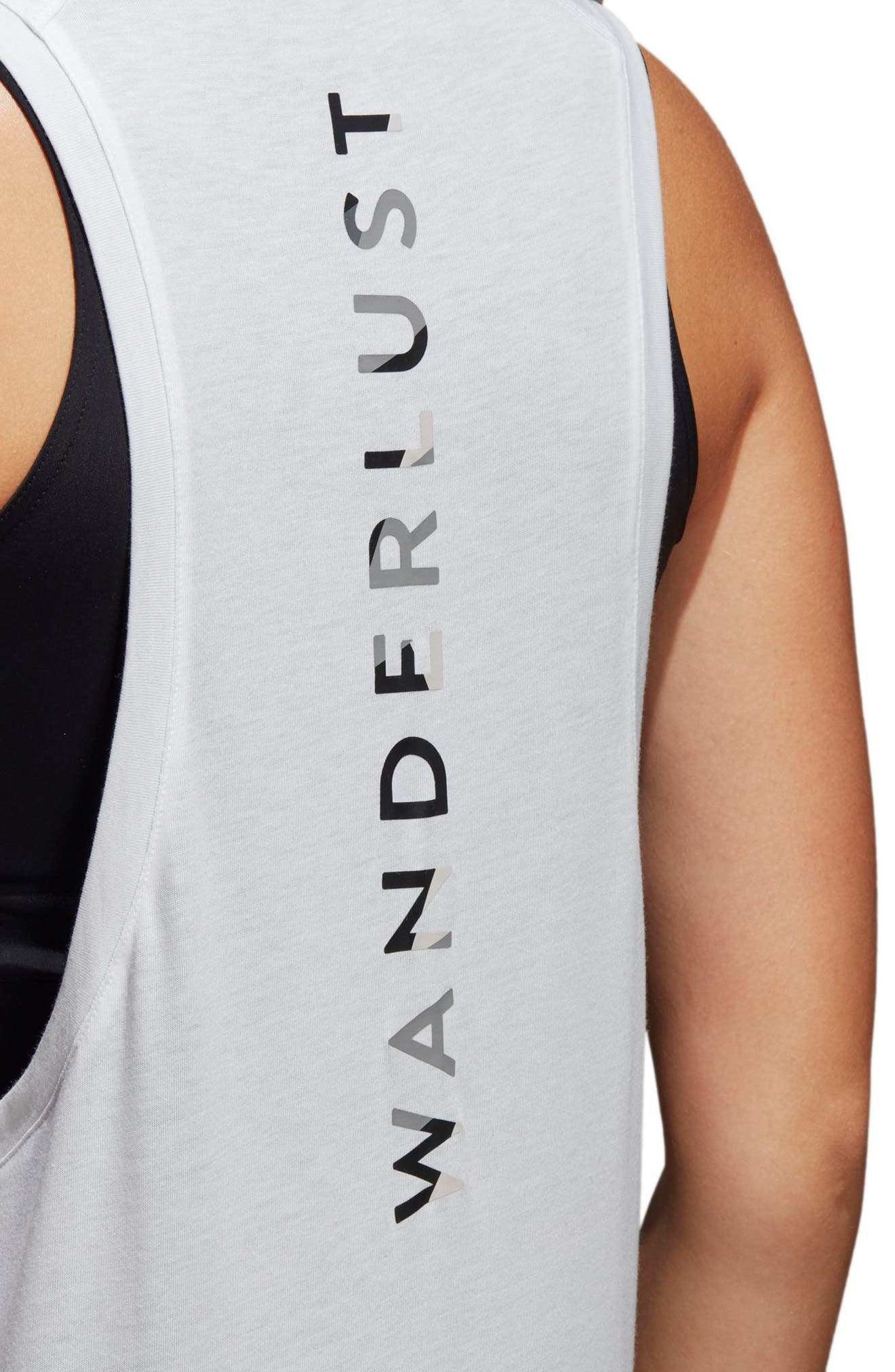 Wanderlust Parley Tank,                             Alternate thumbnail 4, color,                             White