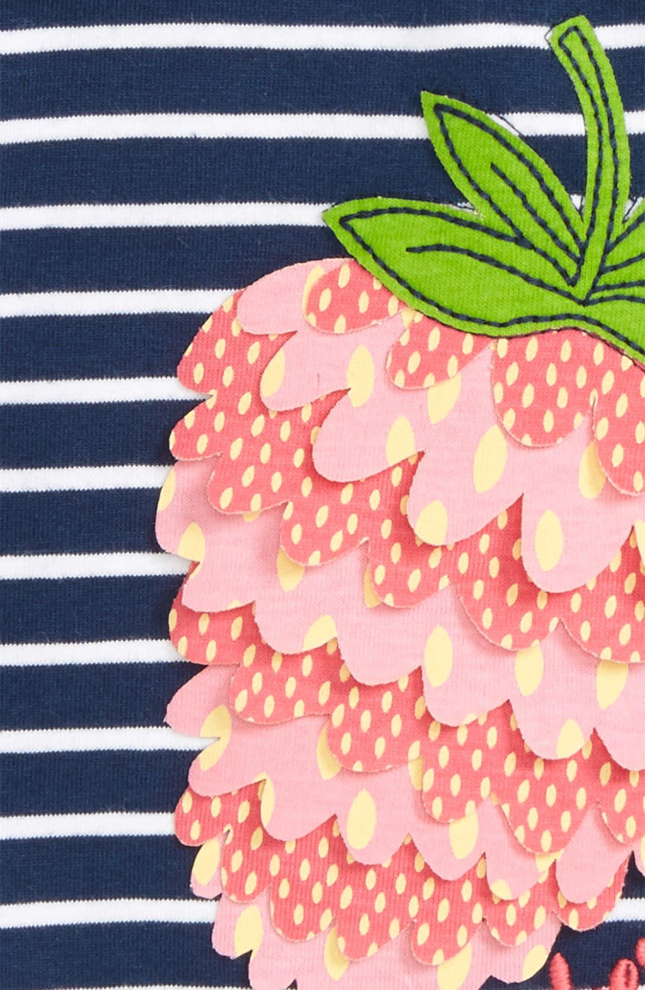 Berry Cute Stripe Tee,                             Alternate thumbnail 2, color,                             Berry Stripe