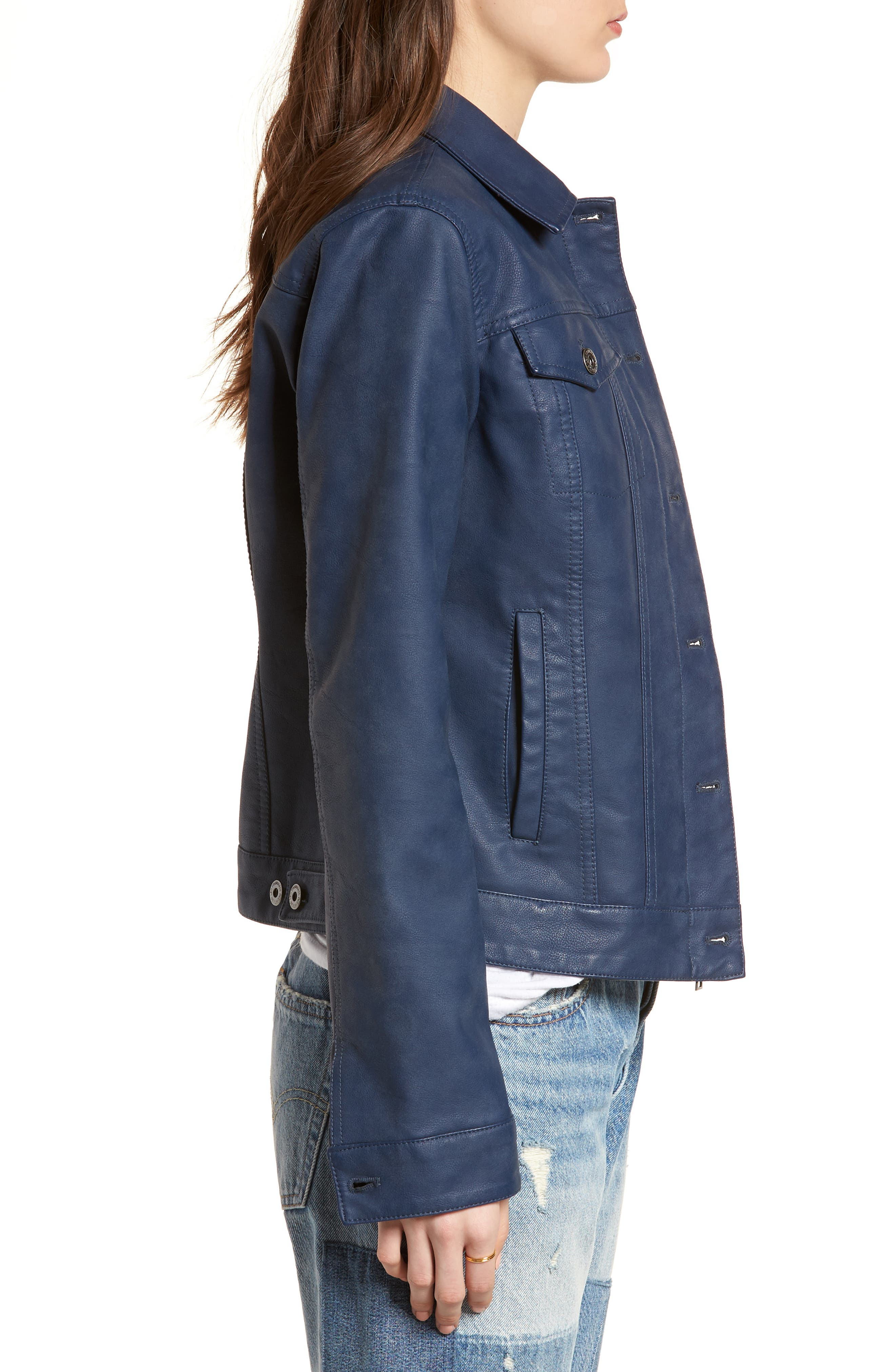 Alternate Image 3  - Levi's® Faux Leather Trucker Jacket