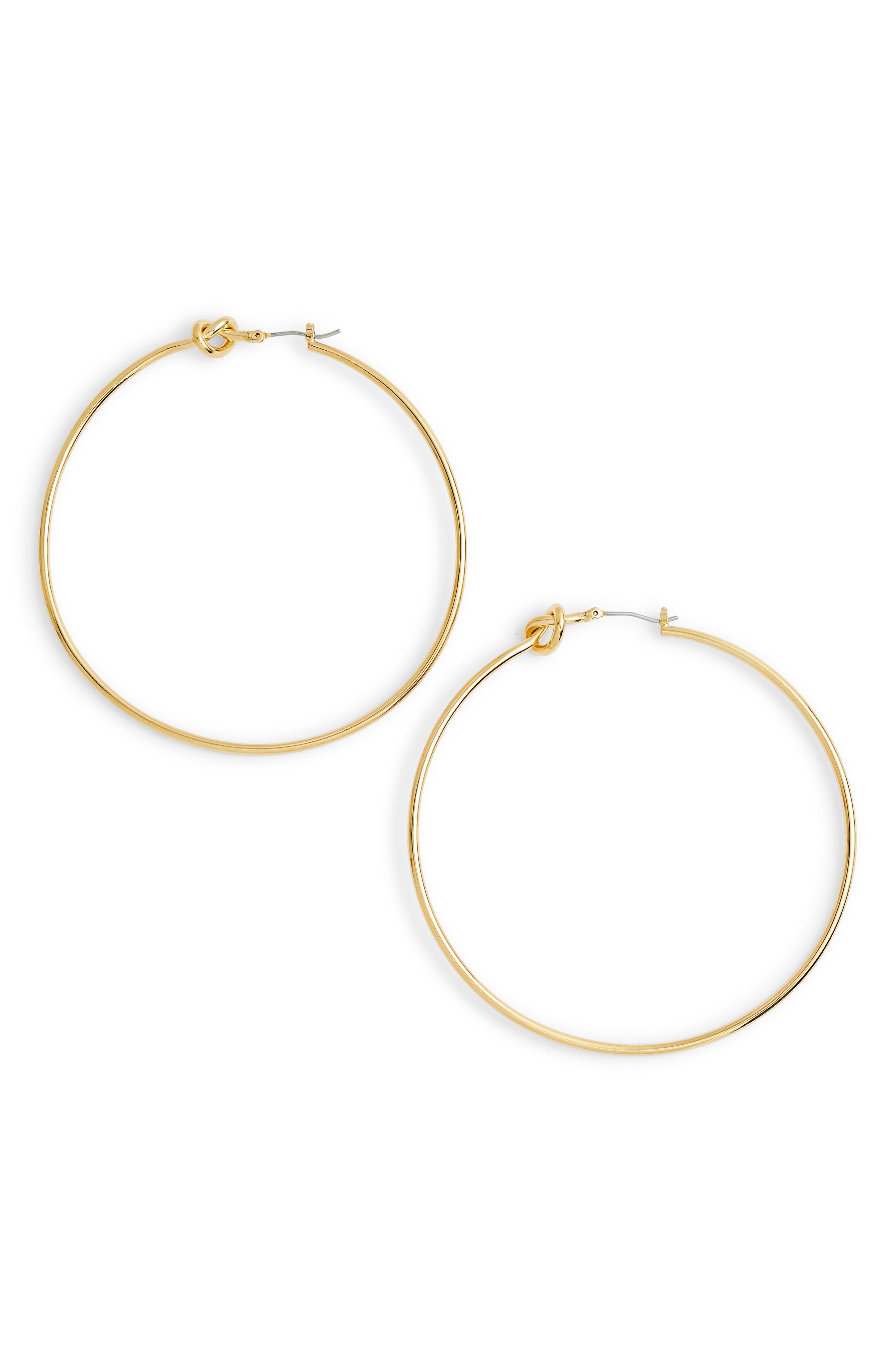 Olivia Hoop Earrings,                         Main,                         color, Gold