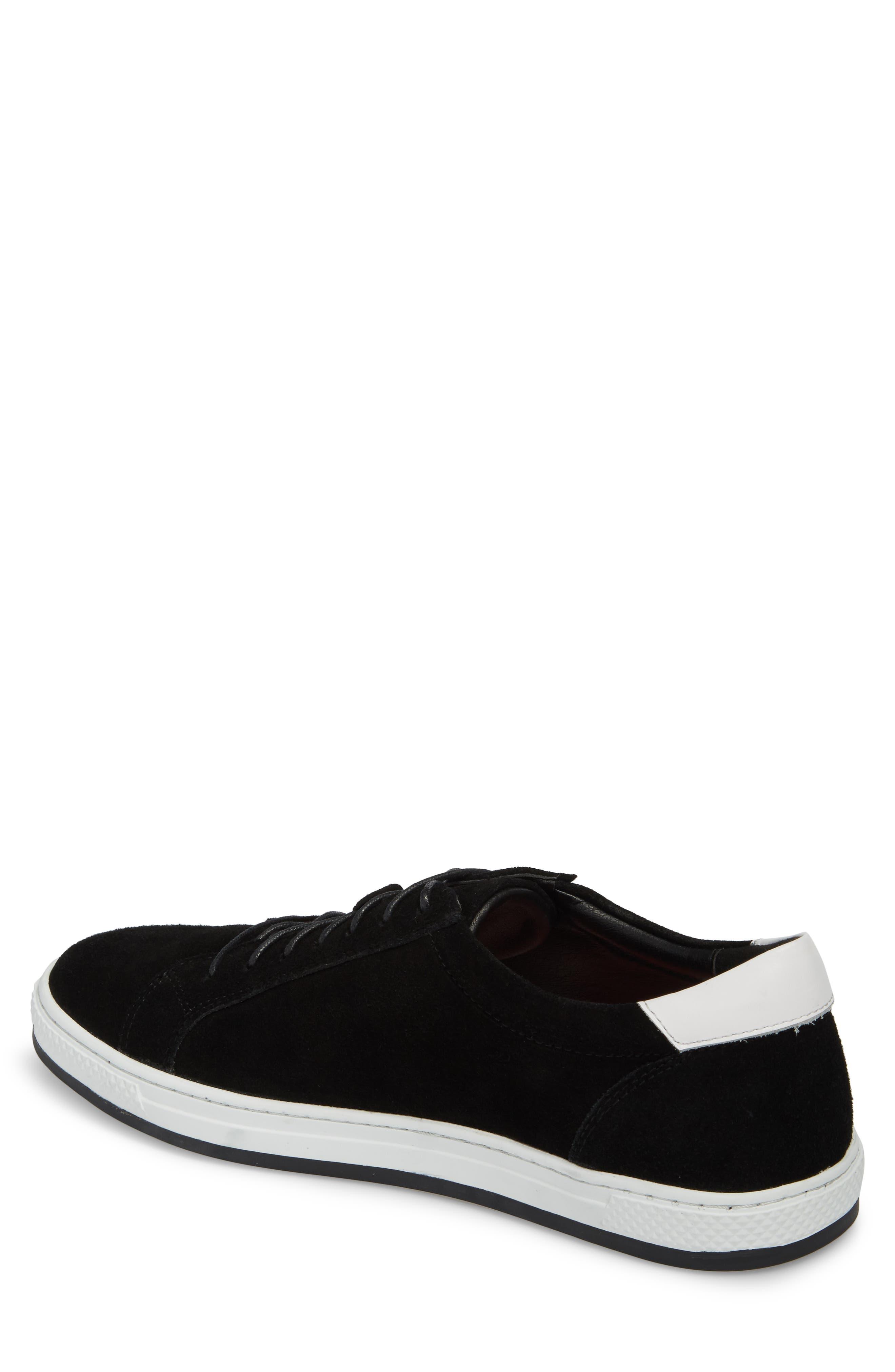 Queens Sneaker,                             Alternate thumbnail 2, color,                             Black Suede