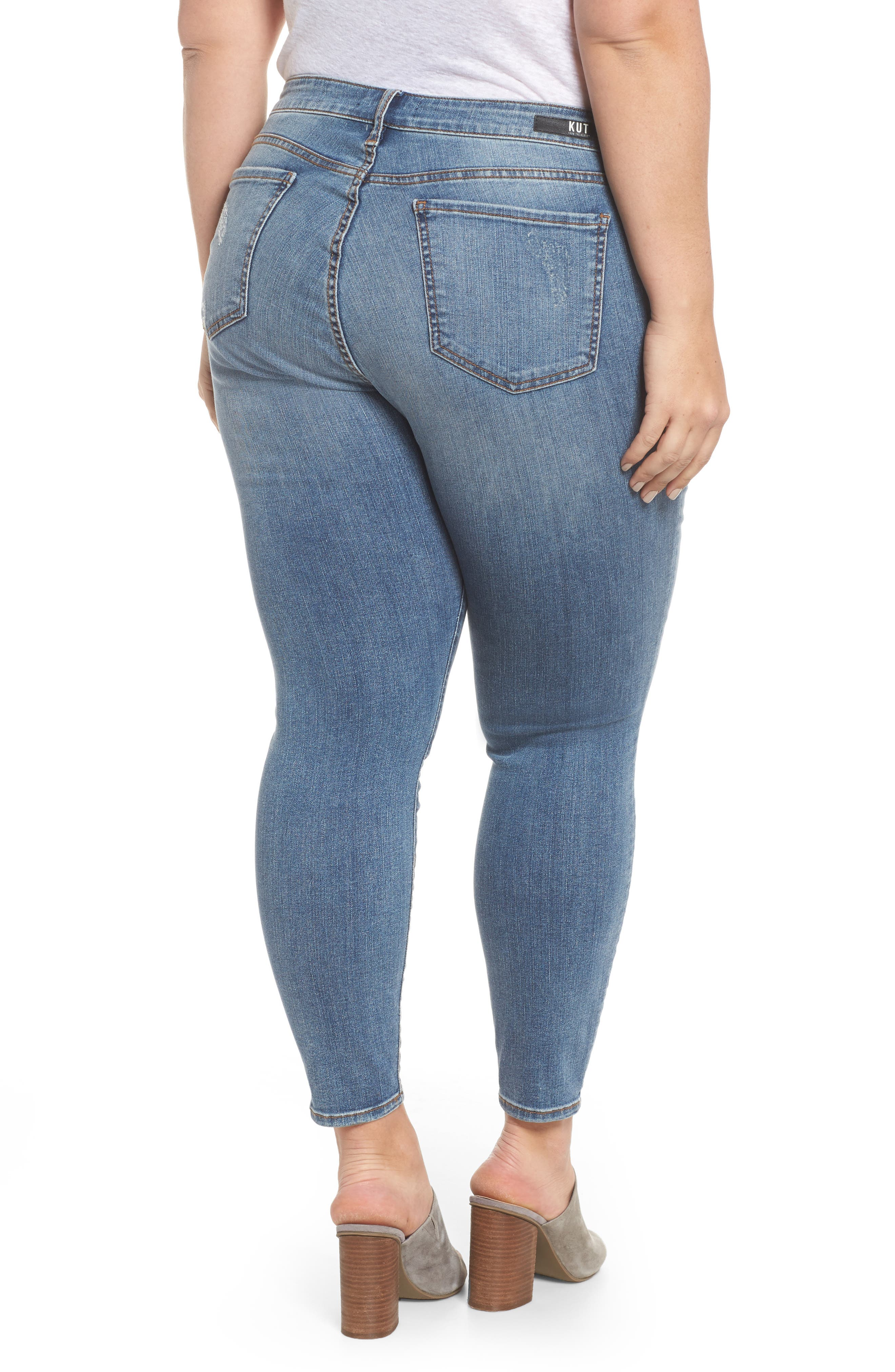 Donna High Waist Ankle Skinny Jeans,                             Alternate thumbnail 2, color,                             Galvanized W/ Me