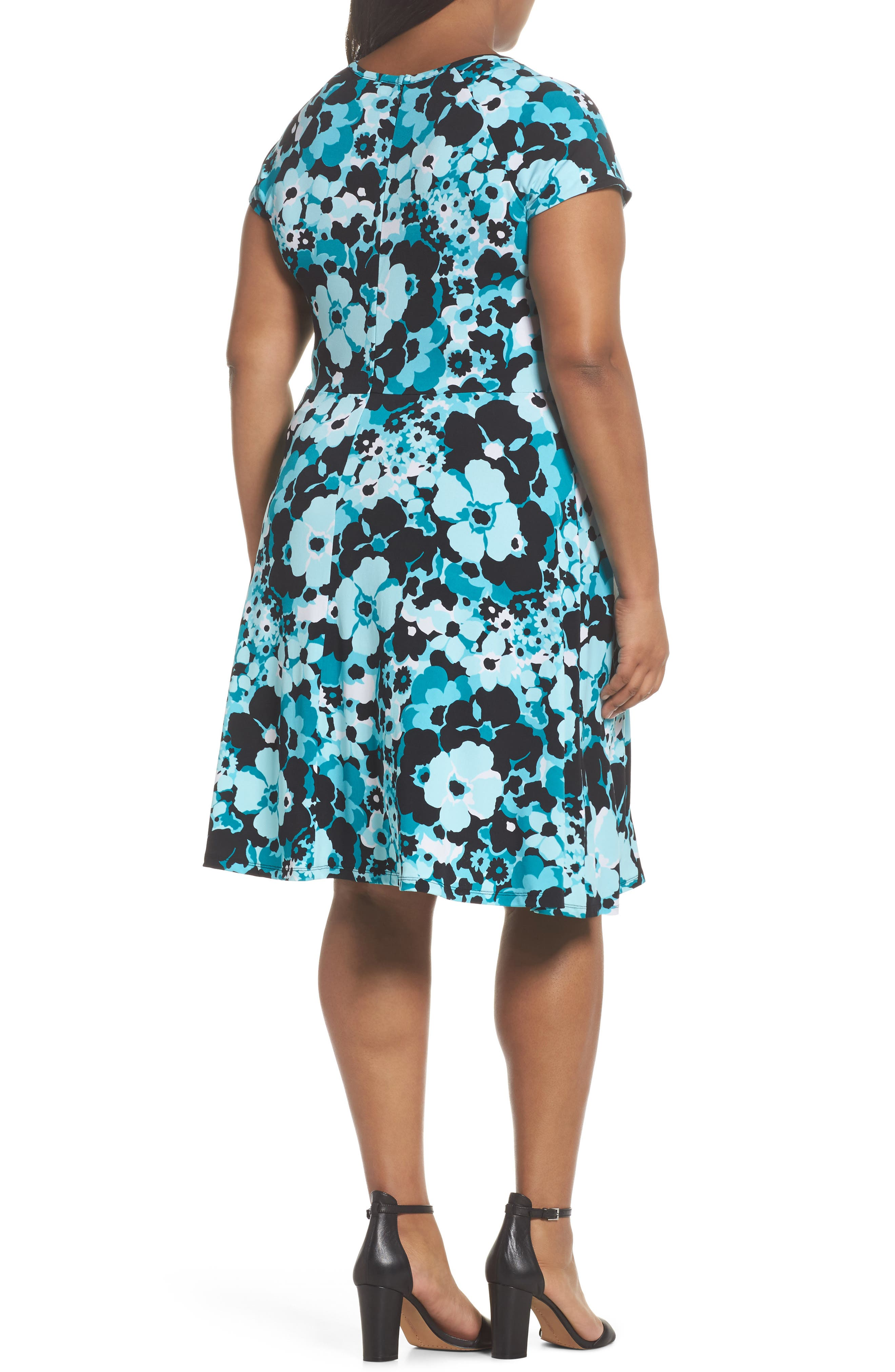 Alternate Image 2  - MICHAEL Michael Kors Springtime Floral Cutout Dress (Plus Size)