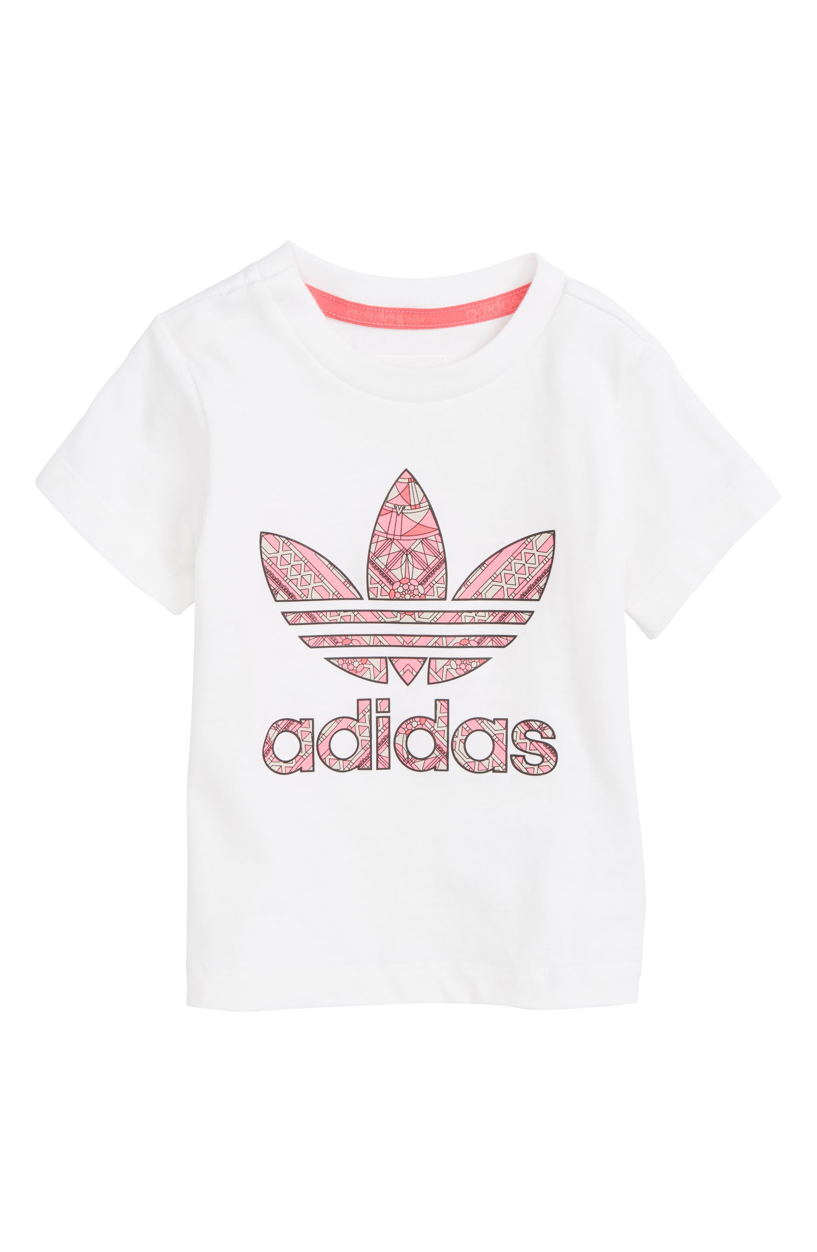 adidas Originals Logo Graphic Tee (Baby Girls)