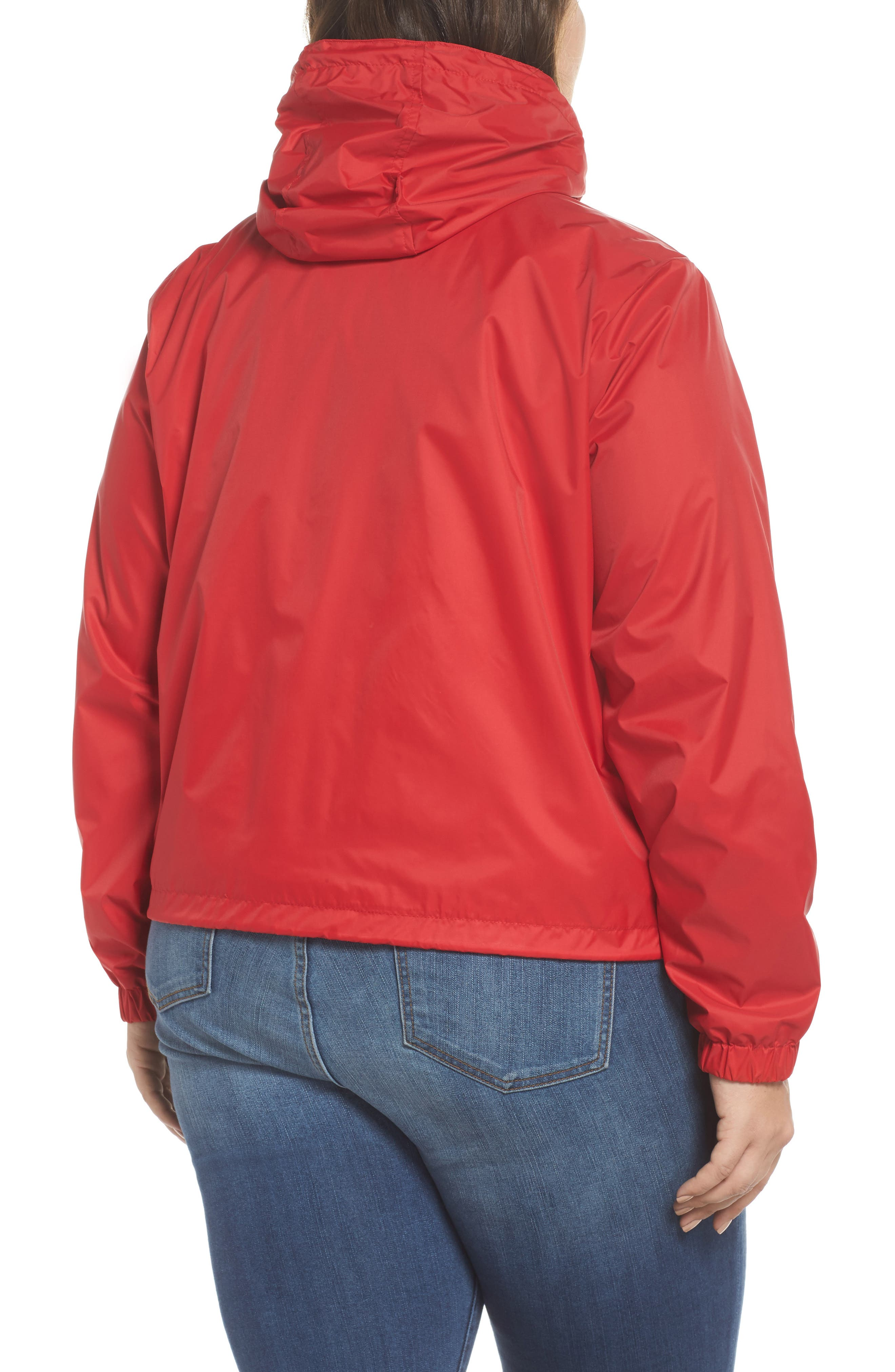 Retro Hooded Coach's Jacket,                             Alternate thumbnail 2, color,                             Red
