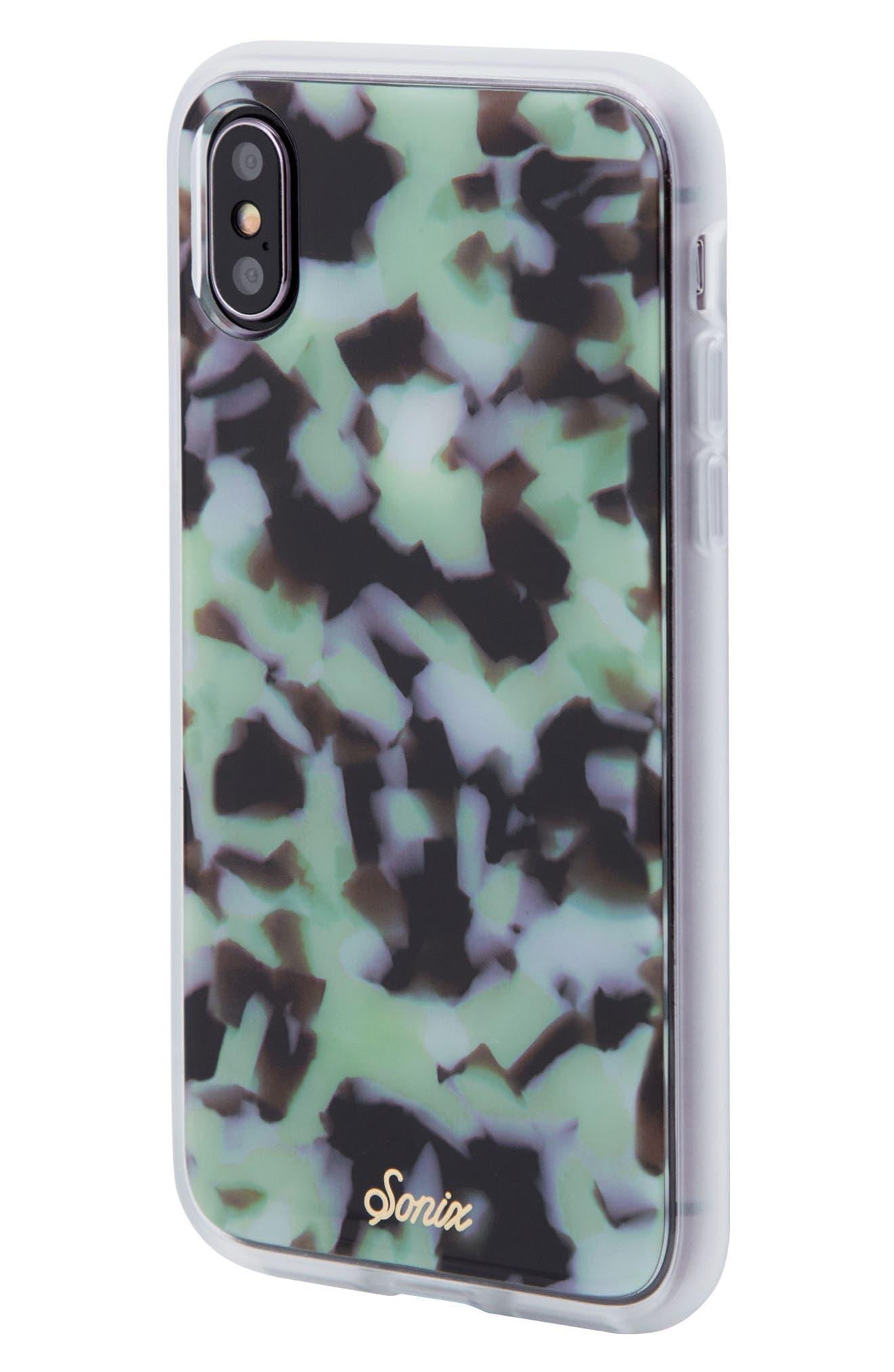 Sonic Terrazzo Mint iPhone X Case,                             Alternate thumbnail 2, color,                             Mint