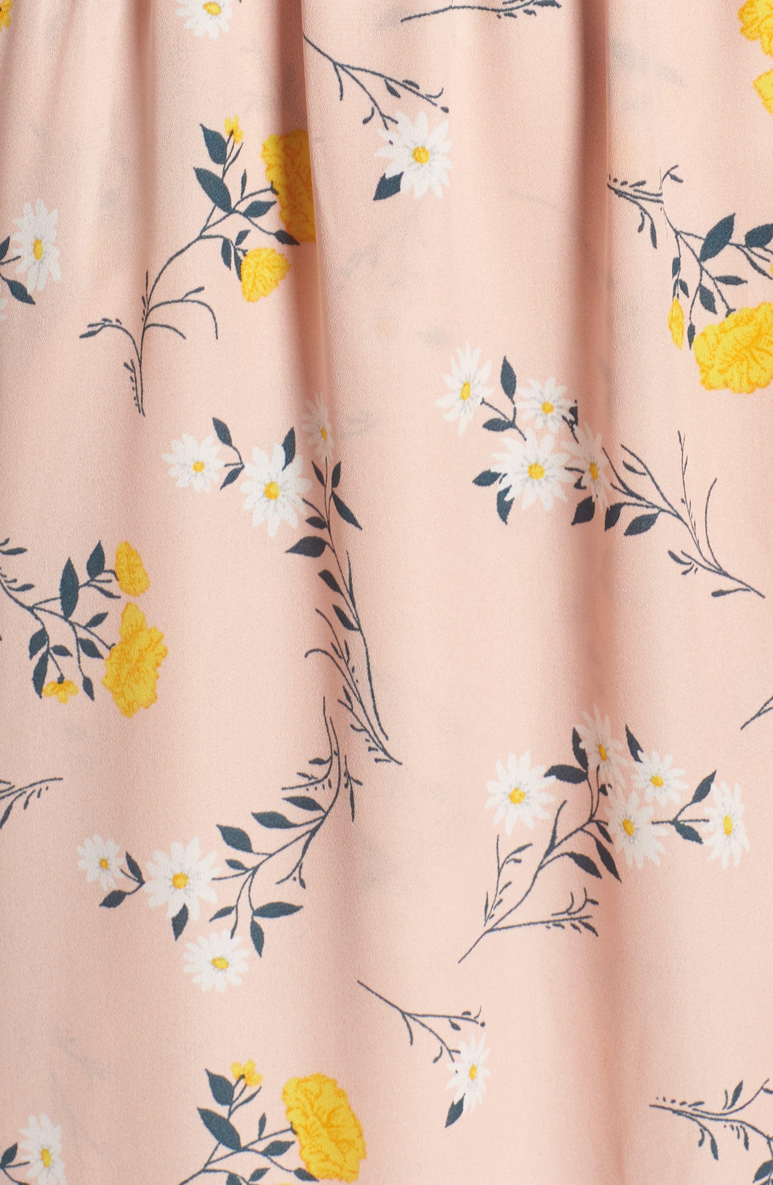 Alternate Image 5  - MOON RIVER Romance Floral Wrap Style Dress