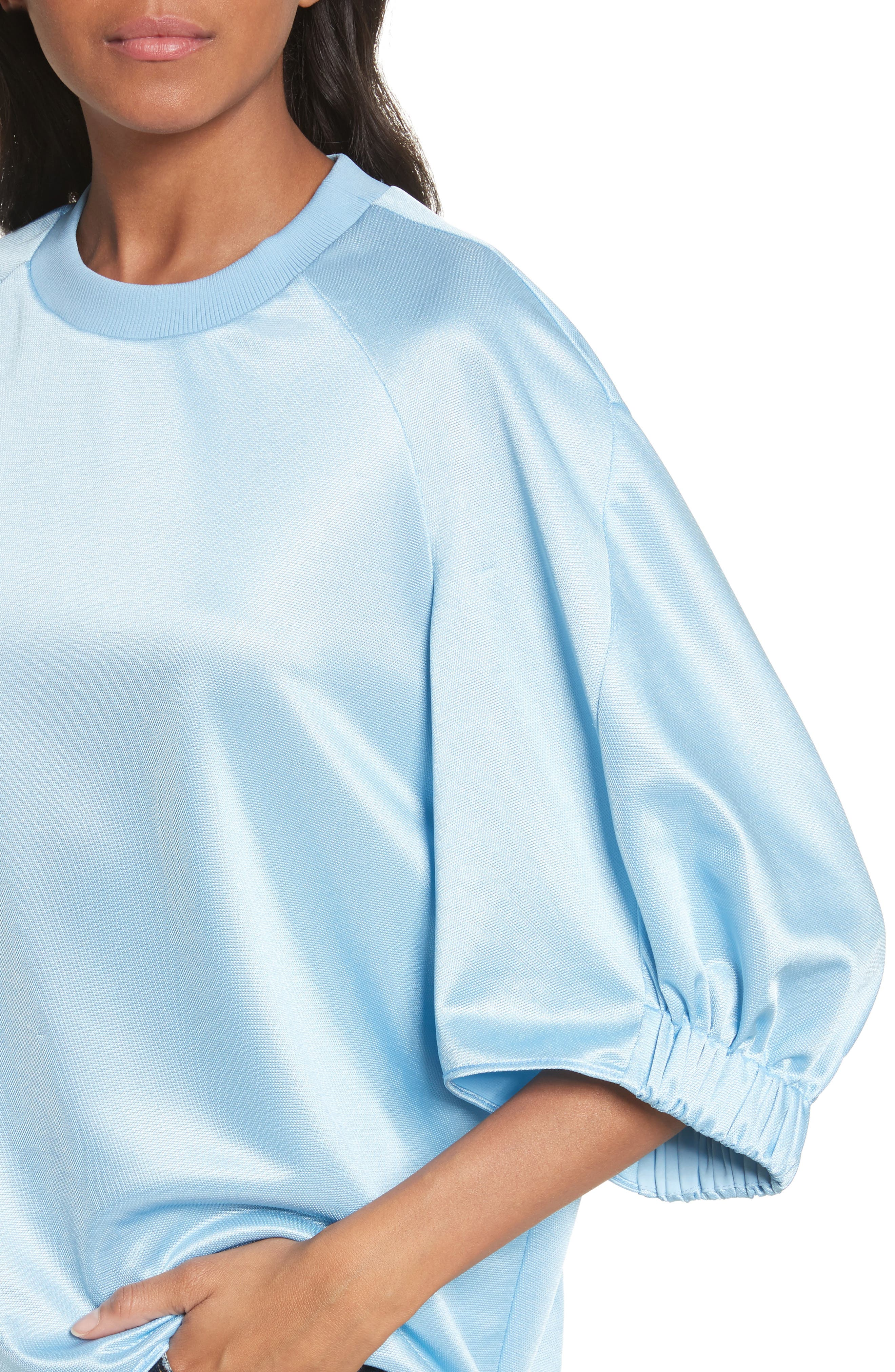 Dolman Sleeve Top,                             Alternate thumbnail 4, color,                             Oxford Blue