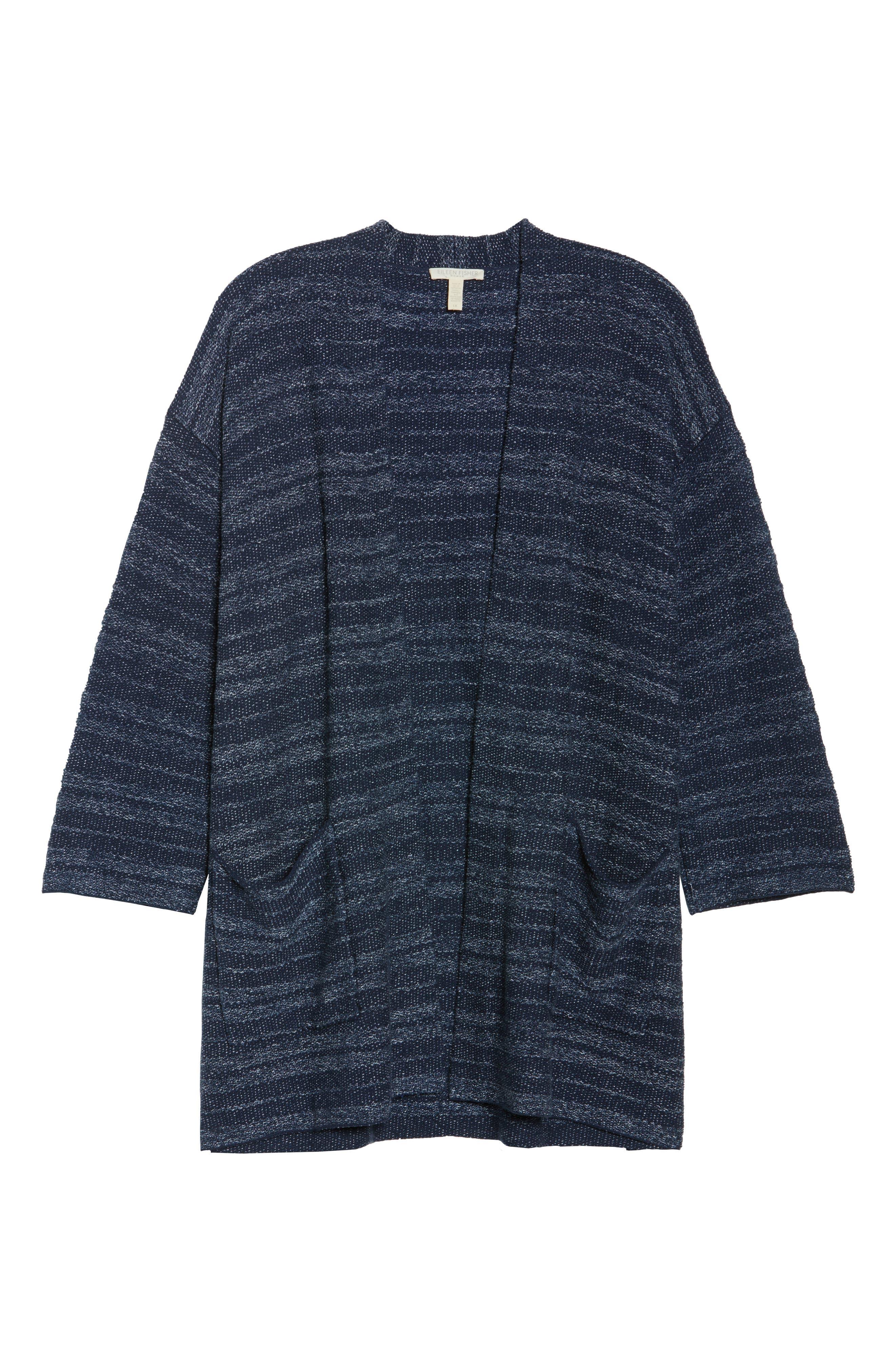Kimono Cardigan,                             Alternate thumbnail 7, color,                             Denim