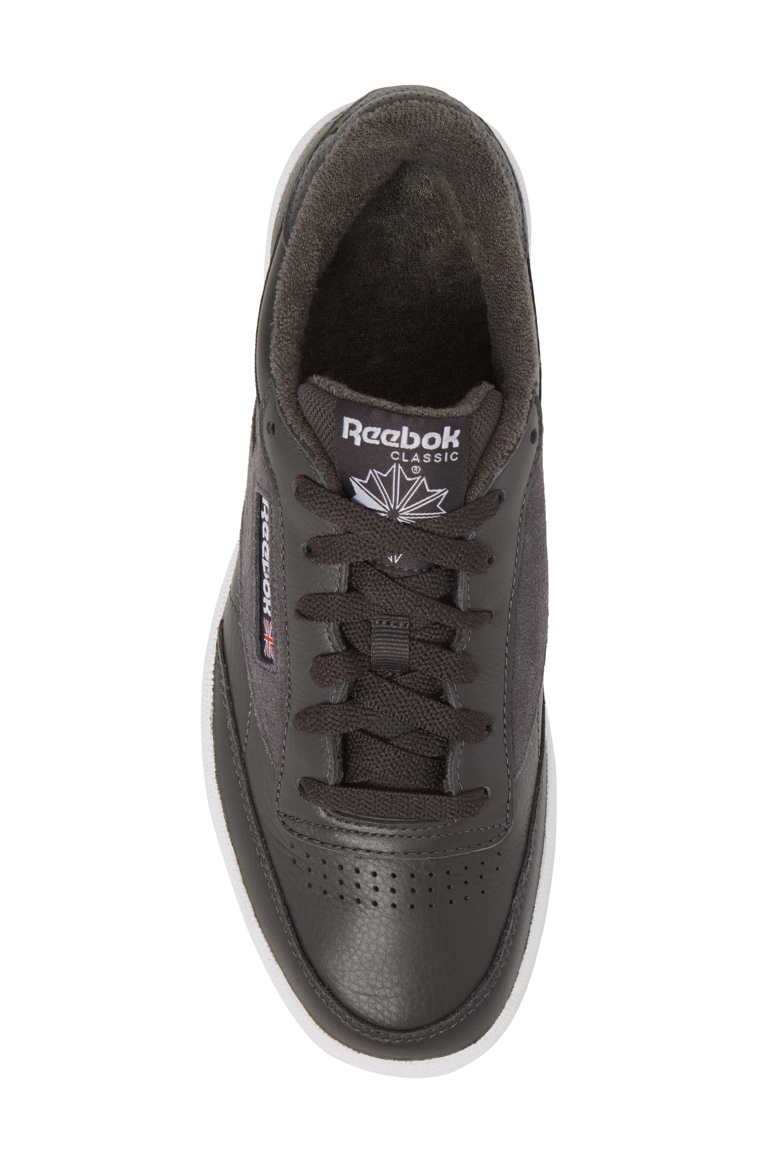 Club C 85 ESTL Sneaker,                             Alternate thumbnail 5, color,                             Coal/ White/ Washed Blue
