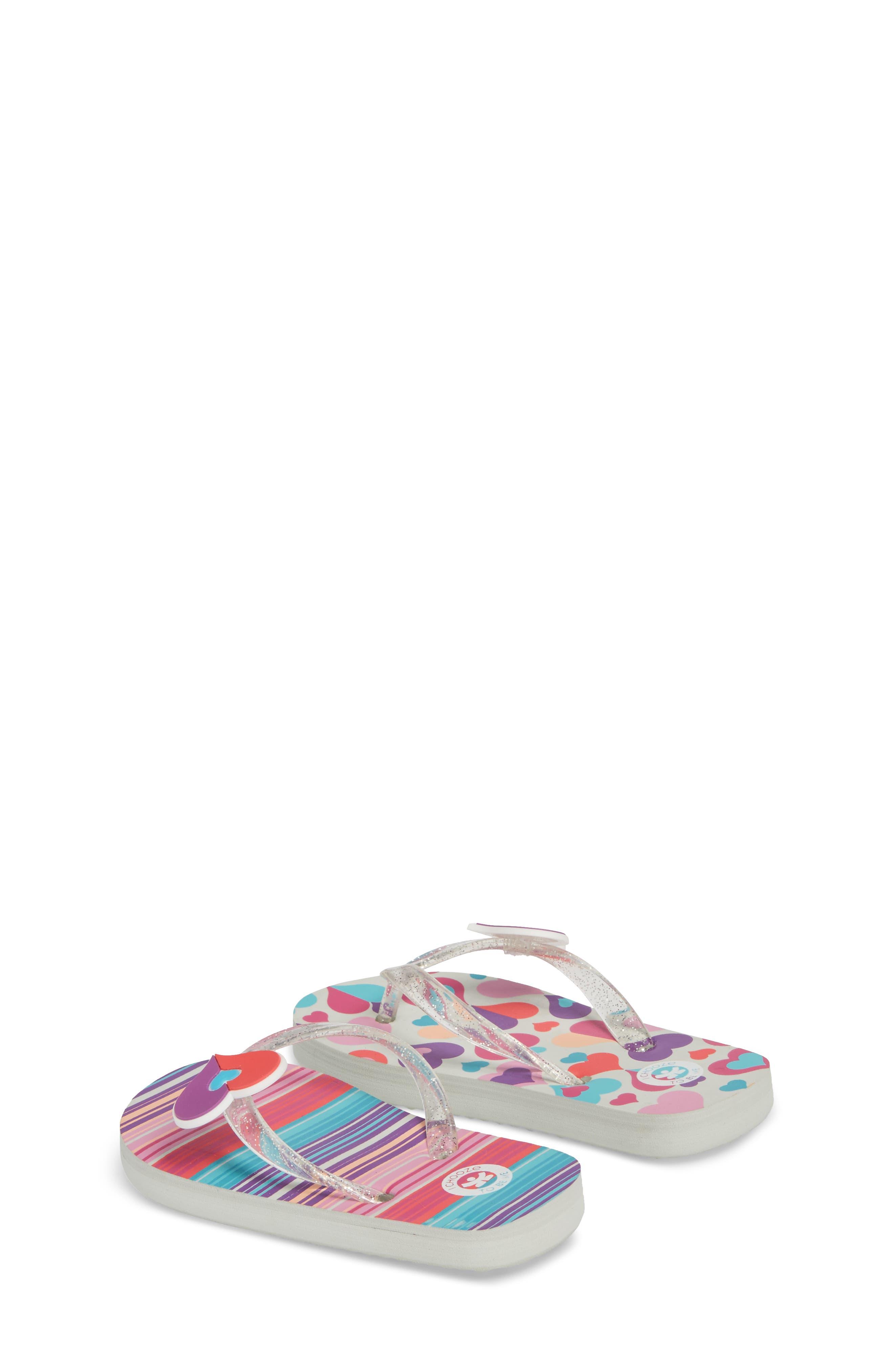 Alternate Image 2  - CHOOZE Print Flip Flop (Toddler, Little Kid & Big Kid)
