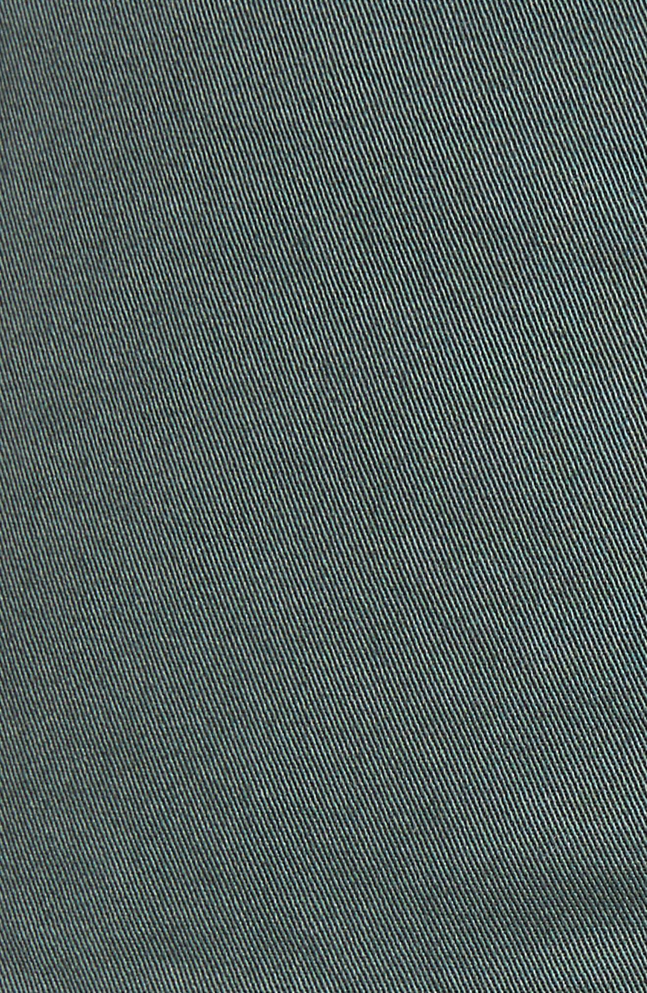 Stretch Cotton Drawstring Miniskirt,                             Alternate thumbnail 5, color,                             Spanish Green