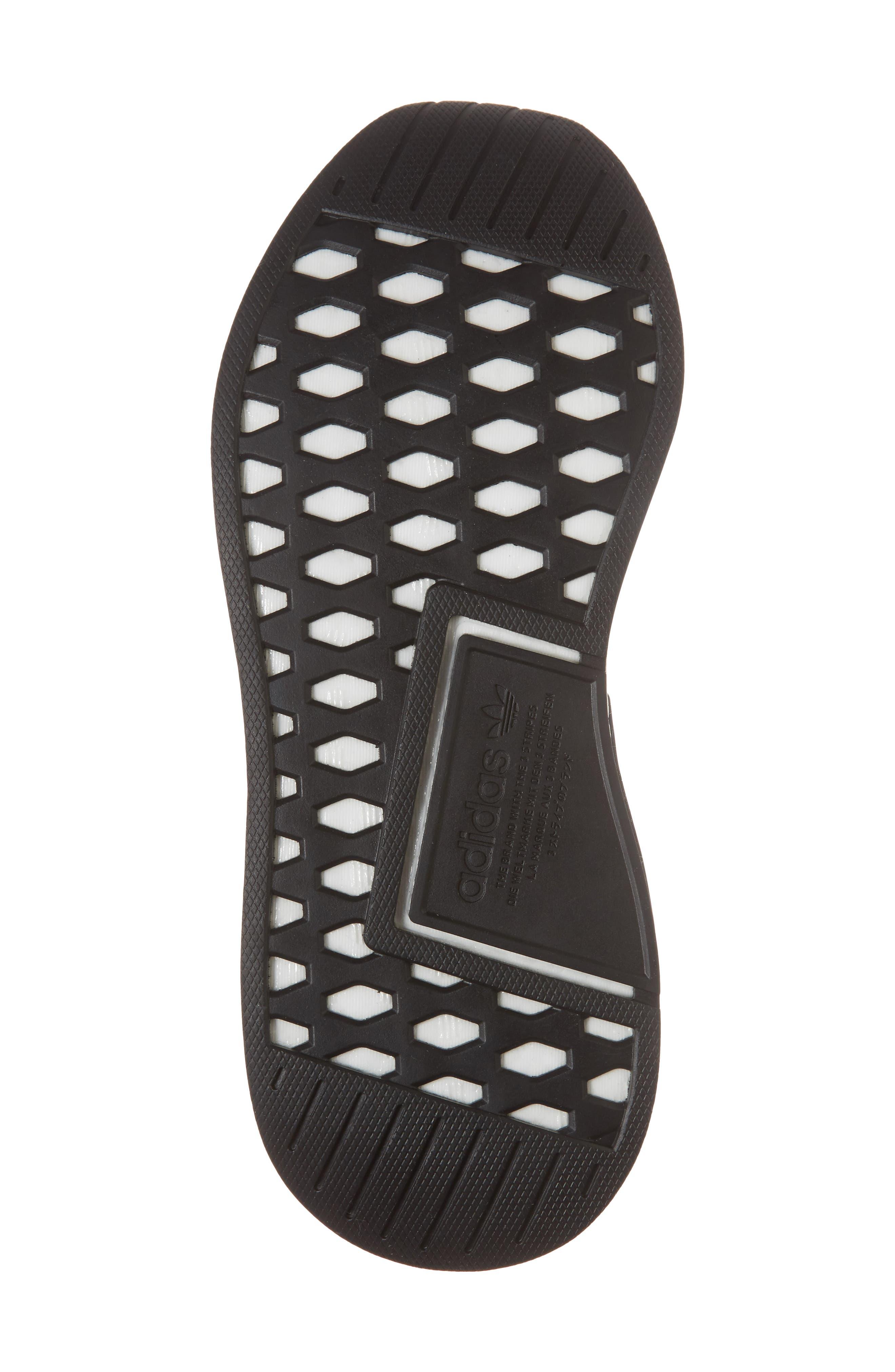 NMD CS2 Primeknit Sneaker,                             Alternate thumbnail 6, color,                             Core Black/ Noble Indigo