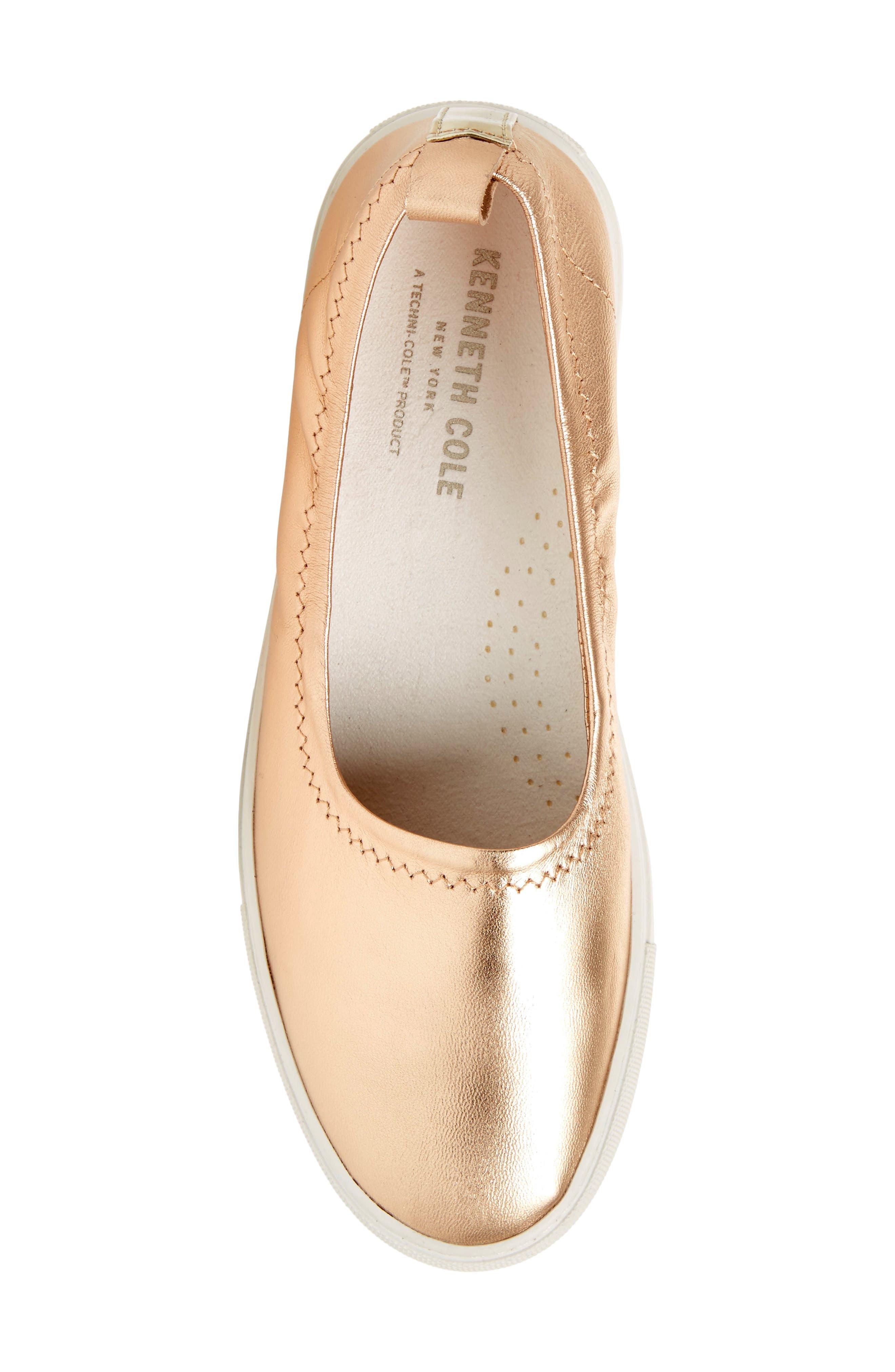 Kam Techni-Cole Ballet Flat,                             Alternate thumbnail 5, color,                             Rose Gold Leather