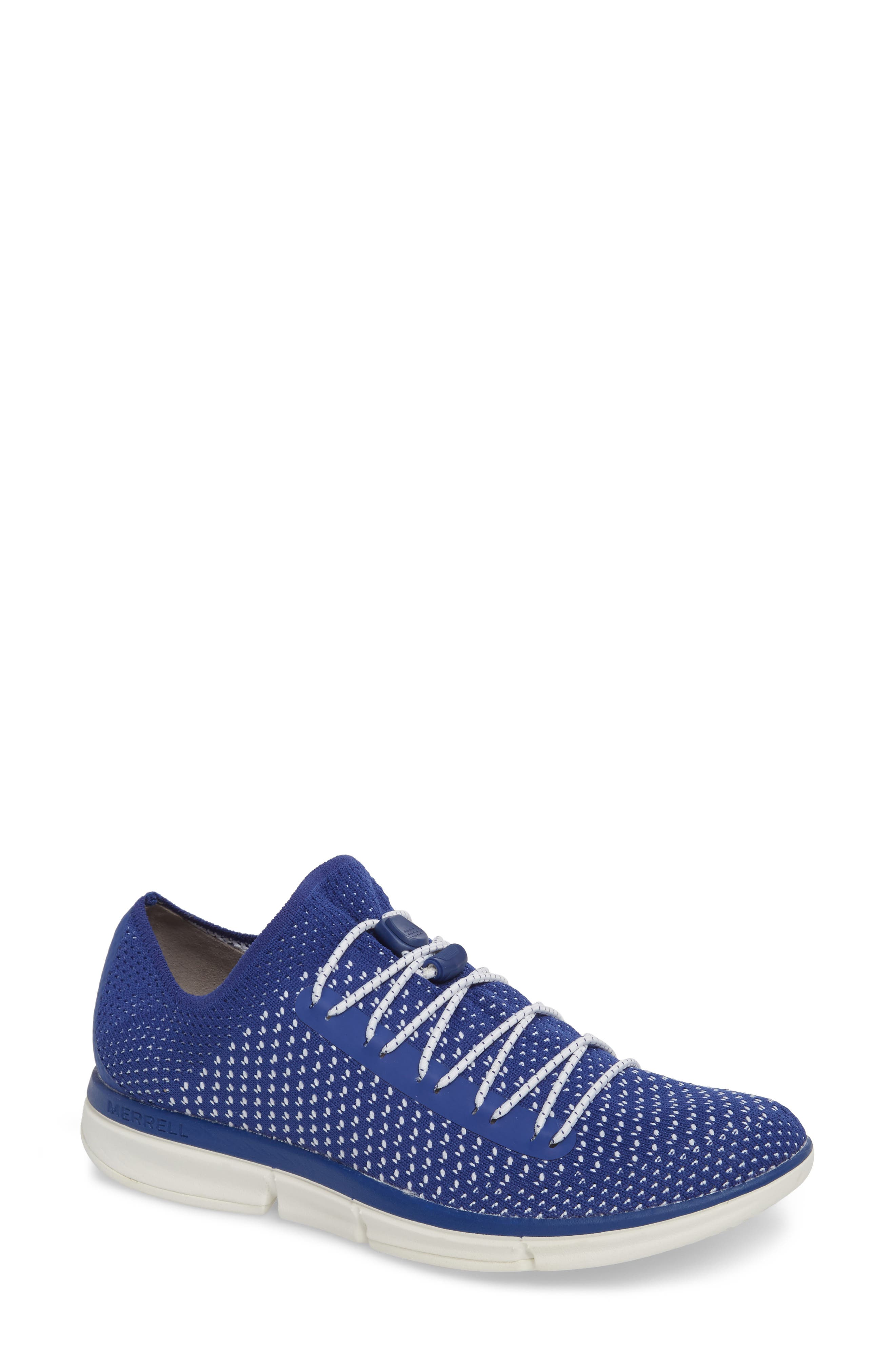 Zoe Sojourn Lace Knit Sneaker,                         Main,                         color, Sodalite