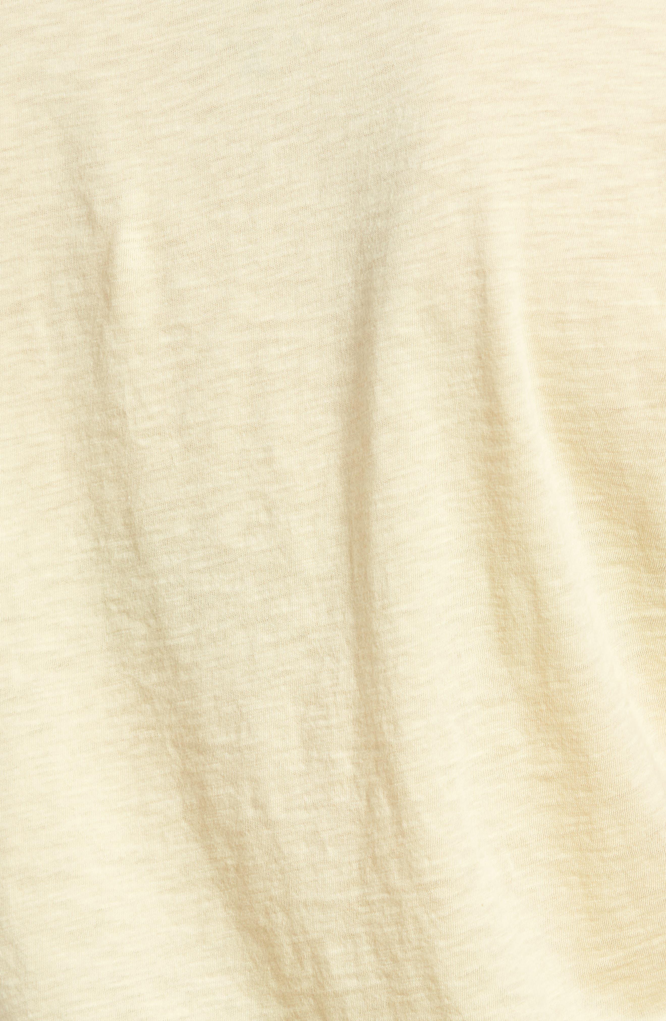 Slub Cotton Voile Sleeve Tee,                             Alternate thumbnail 5, color,                             Chick Yellow