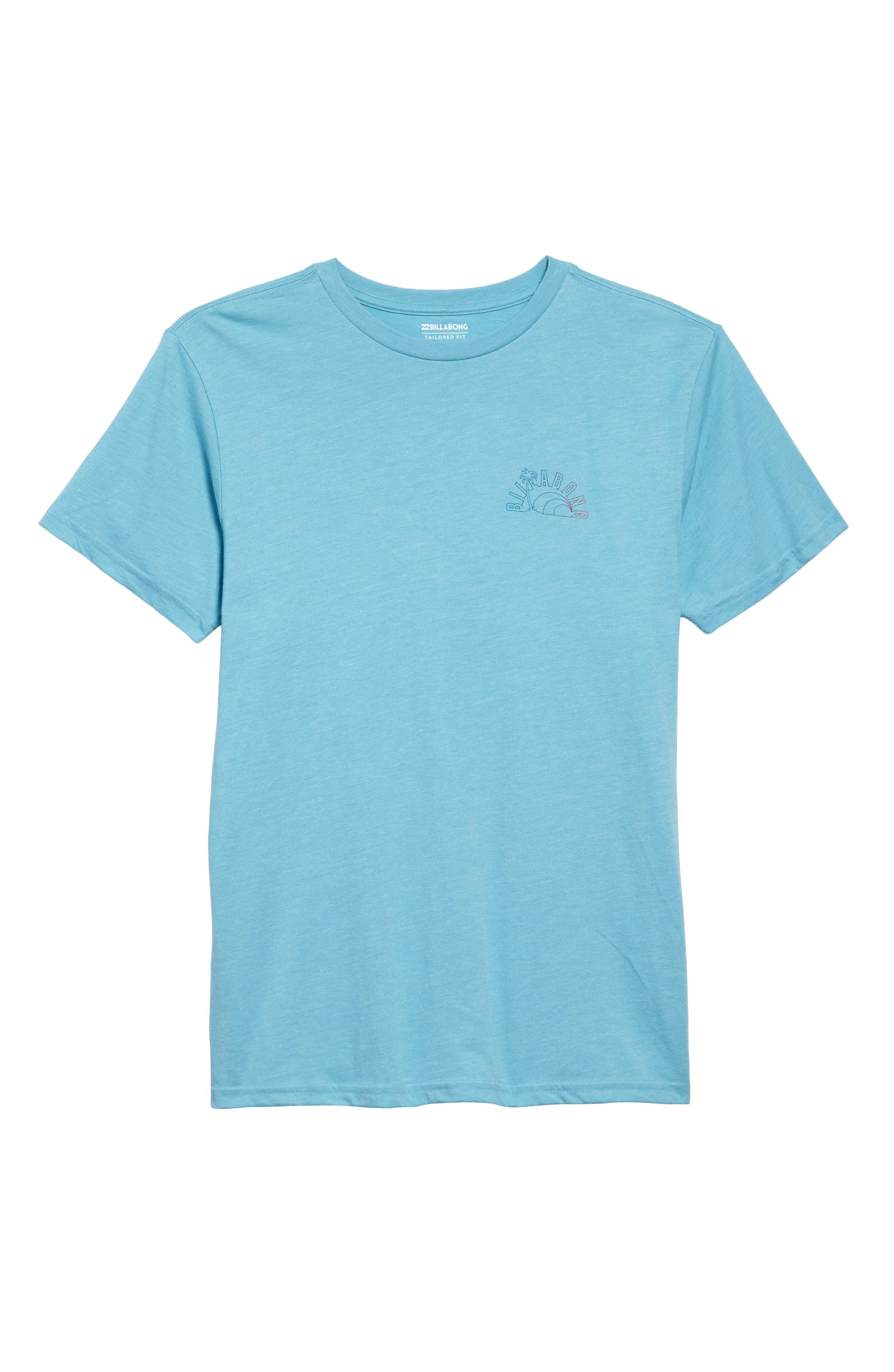 Rainbow Graphic T-Shirt,                             Alternate thumbnail 6, color,                             Aqua Heather