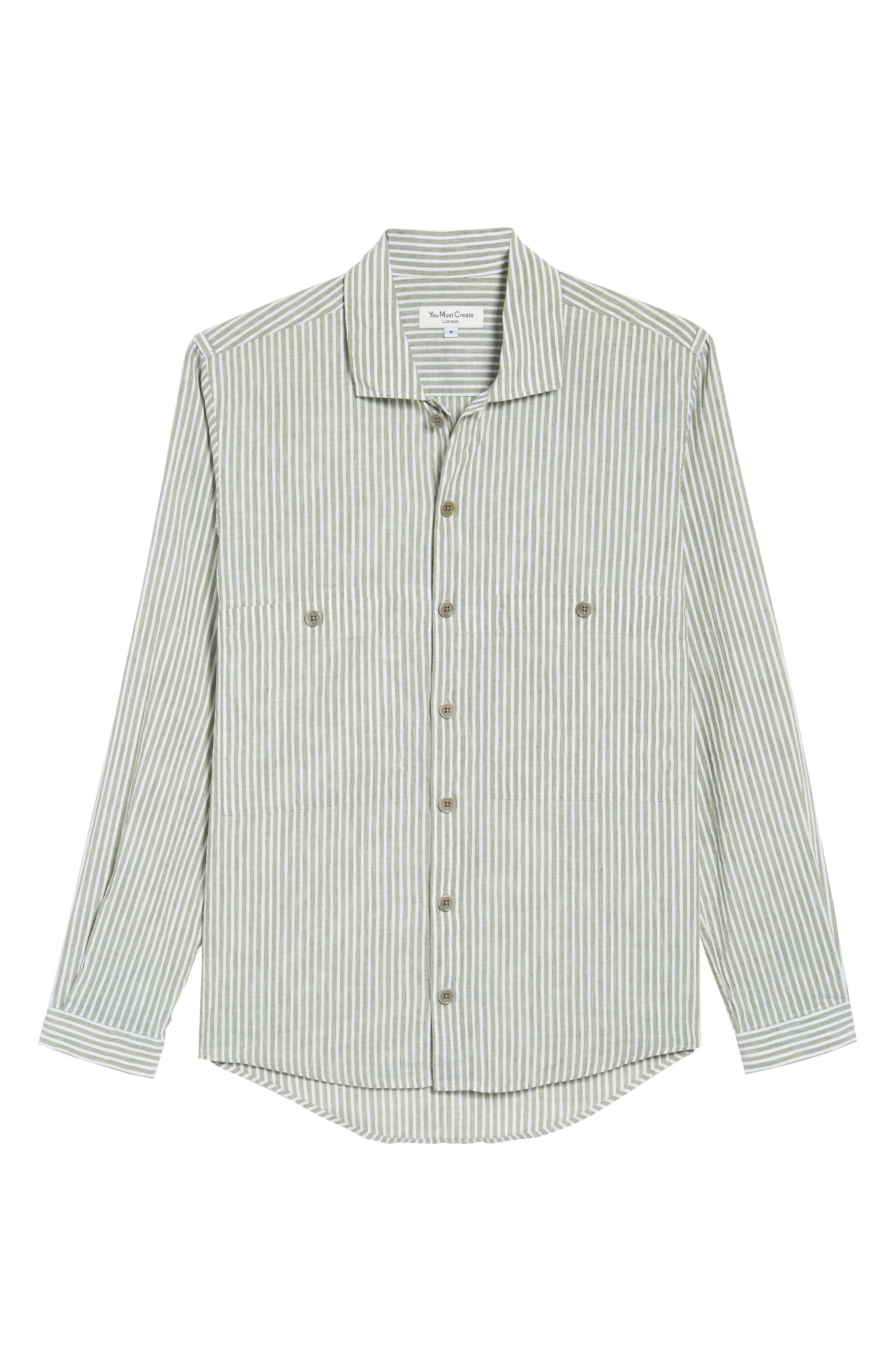 Alternate Image 6  - YMC Doc Savage Regular Fit Sport Shirt