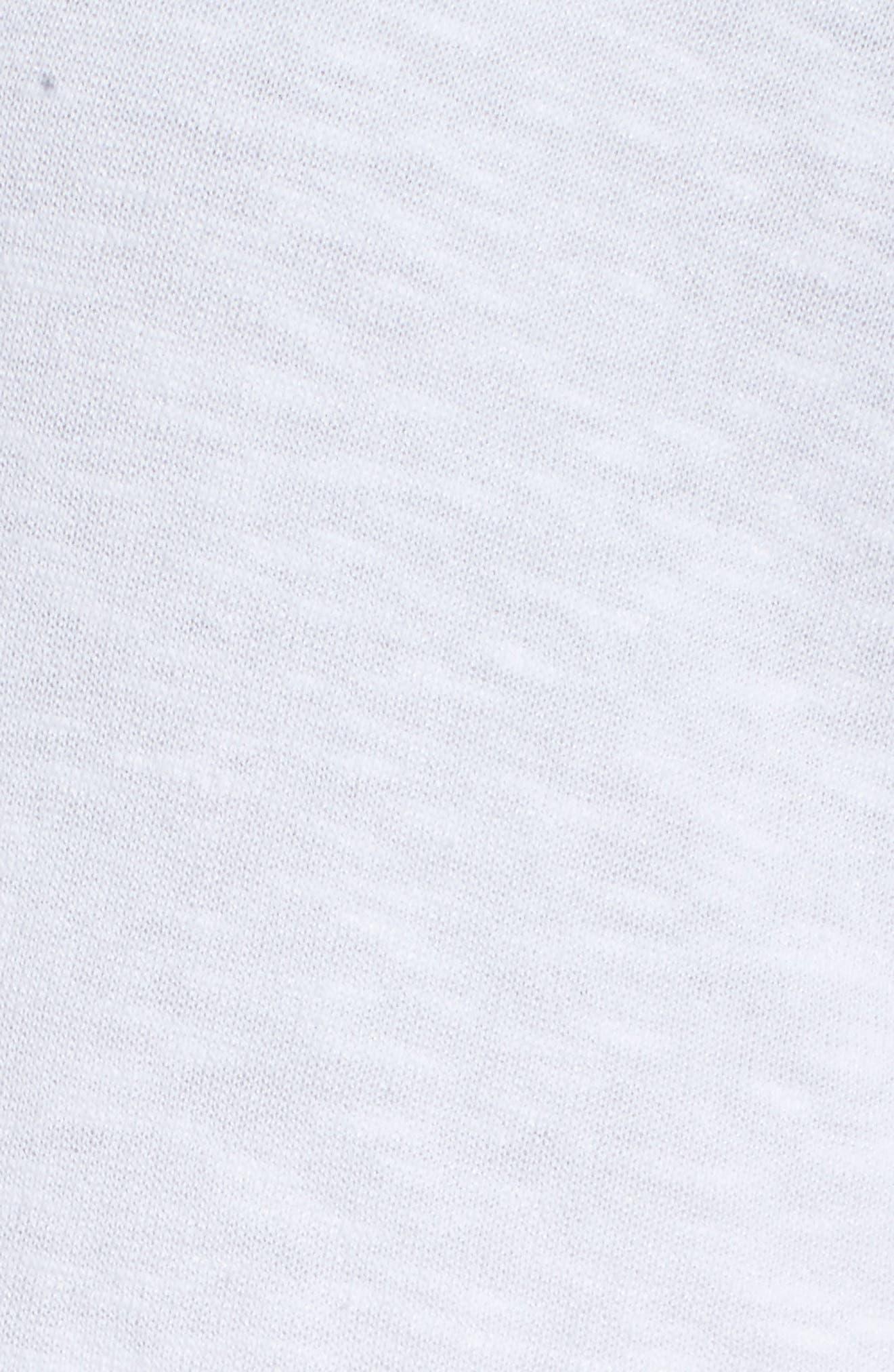 Organic Linen & Cotton Kimono Cardigan,                             Alternate thumbnail 6, color,                             White