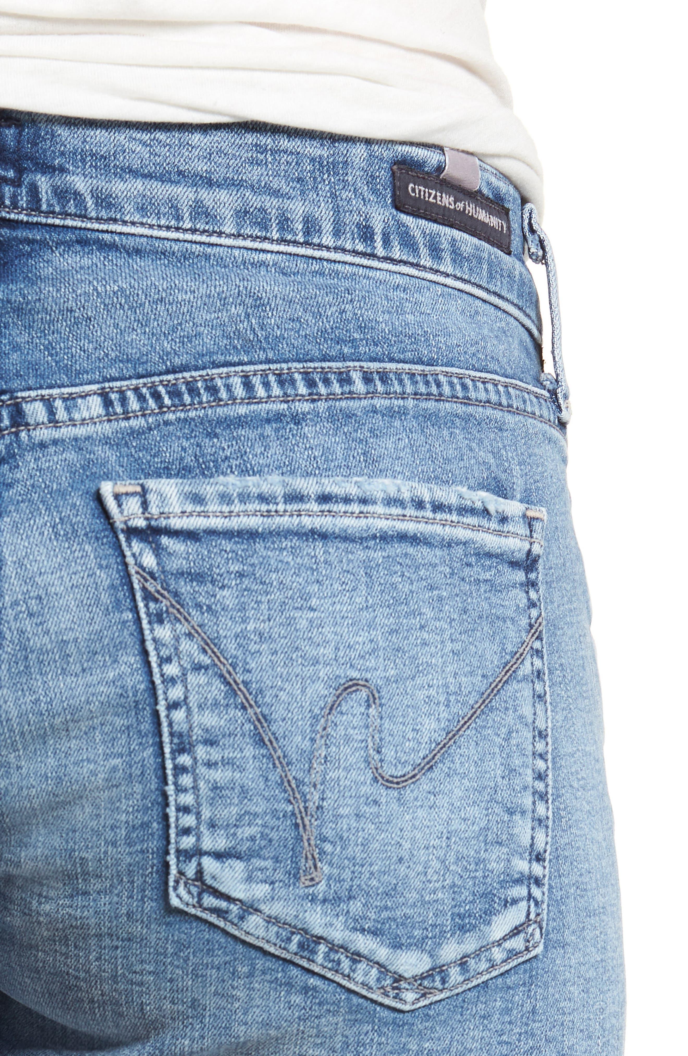 Ava Cutoff Denim Shorts,                             Alternate thumbnail 4, color,                             Pacifica