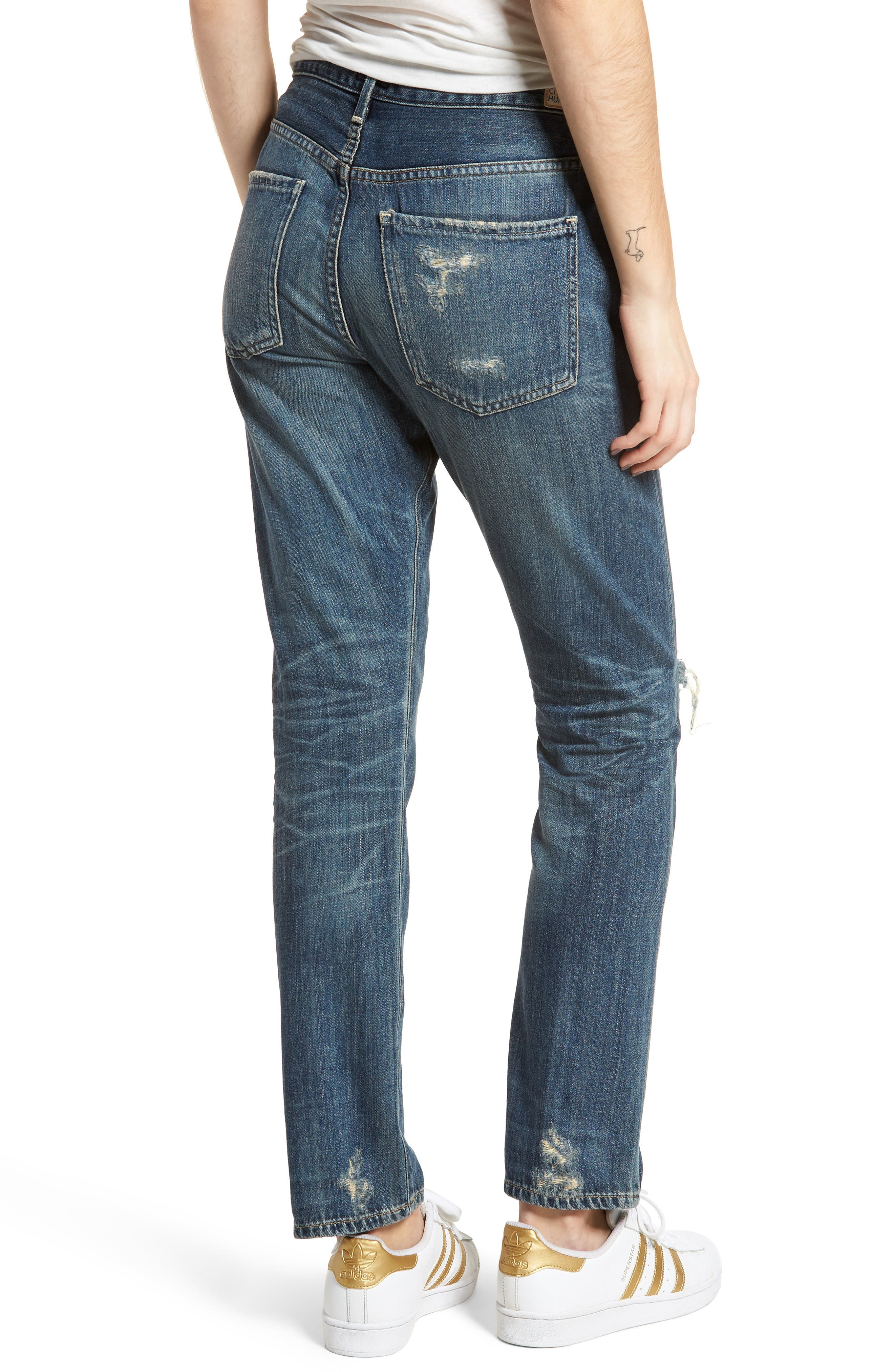 Corey Ripped Slouchy Slim Jeans,                             Alternate thumbnail 2, color,                             Fade Away