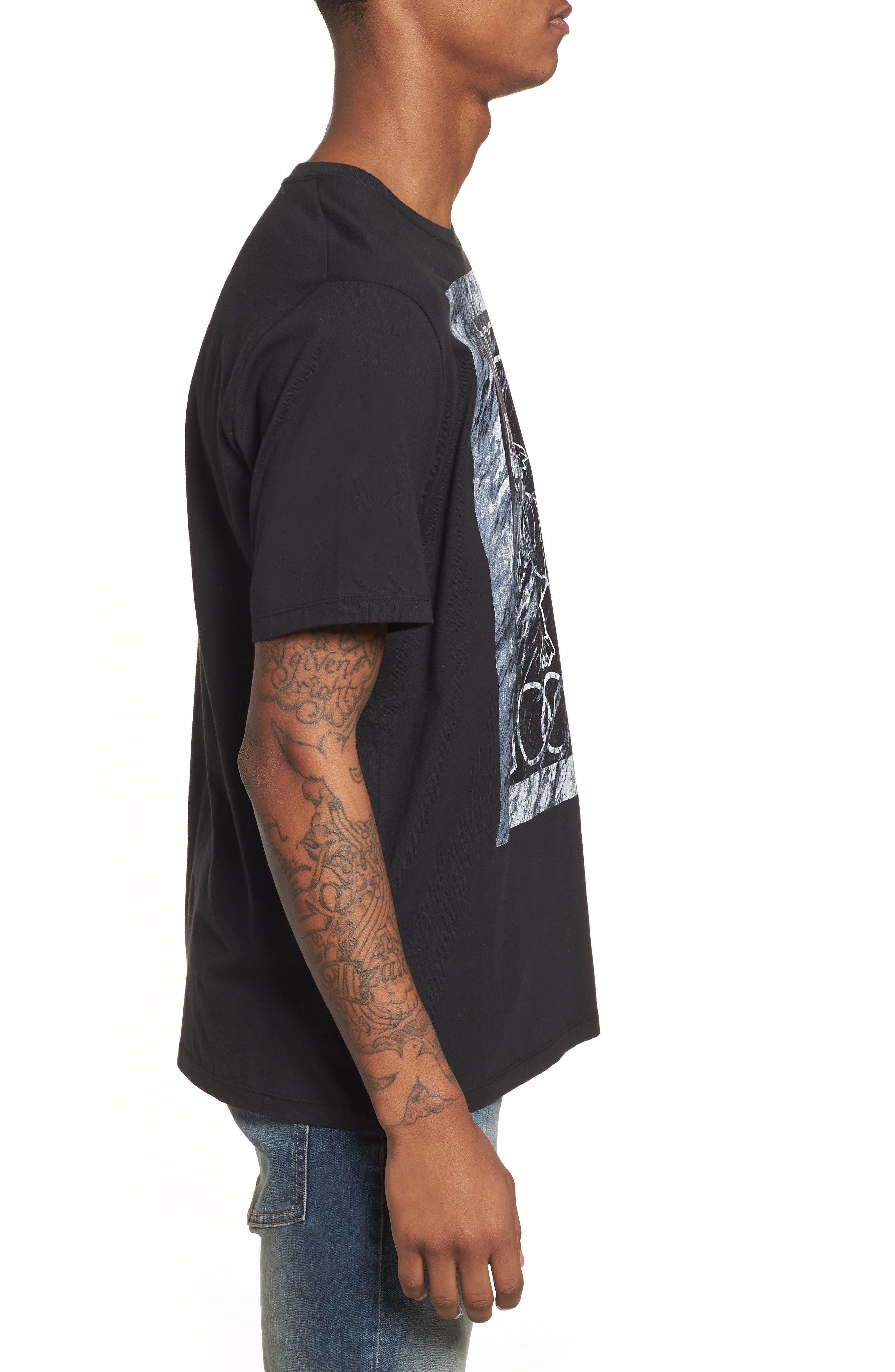 Cherub Graphic T-Shirt,                             Alternate thumbnail 3, color,                             Black