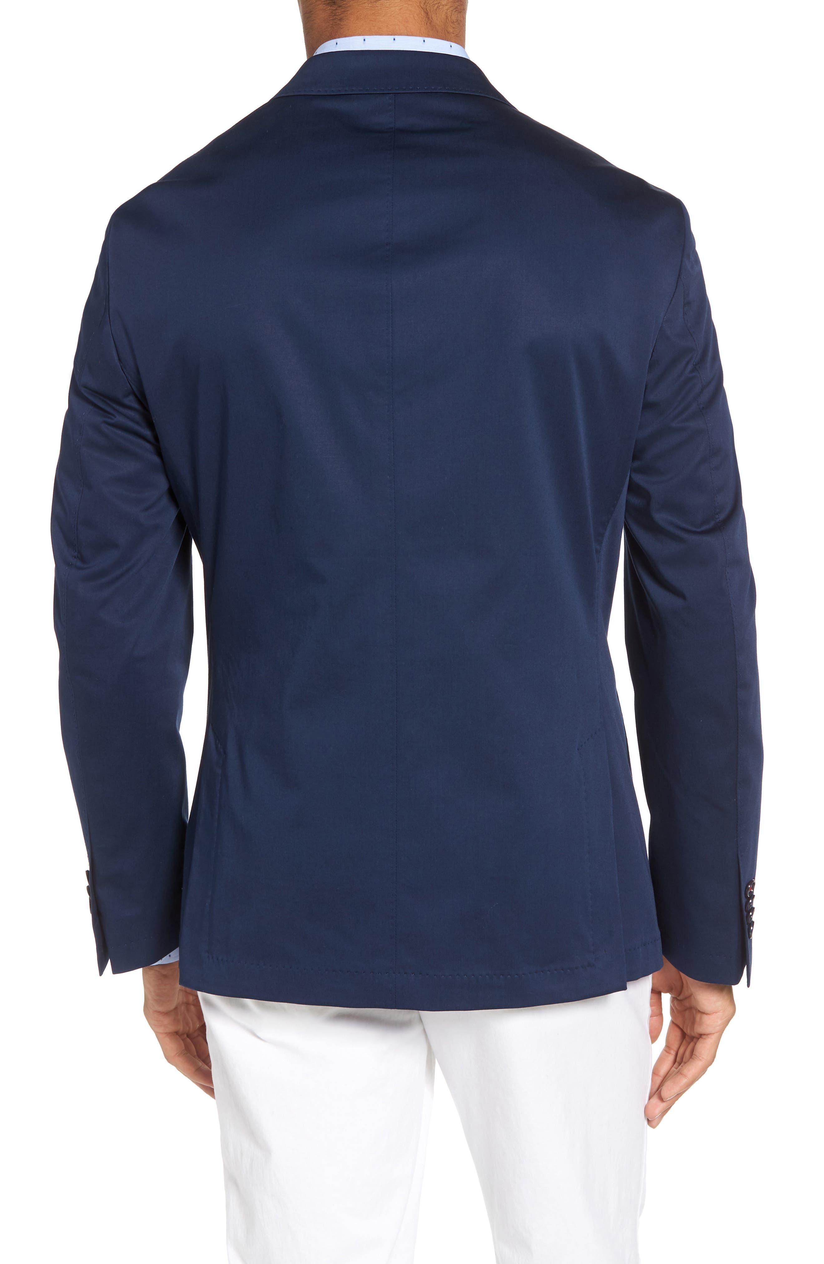 Trent Trim Fit Stretch Cotton Blazer,                             Alternate thumbnail 2, color,                             Navy