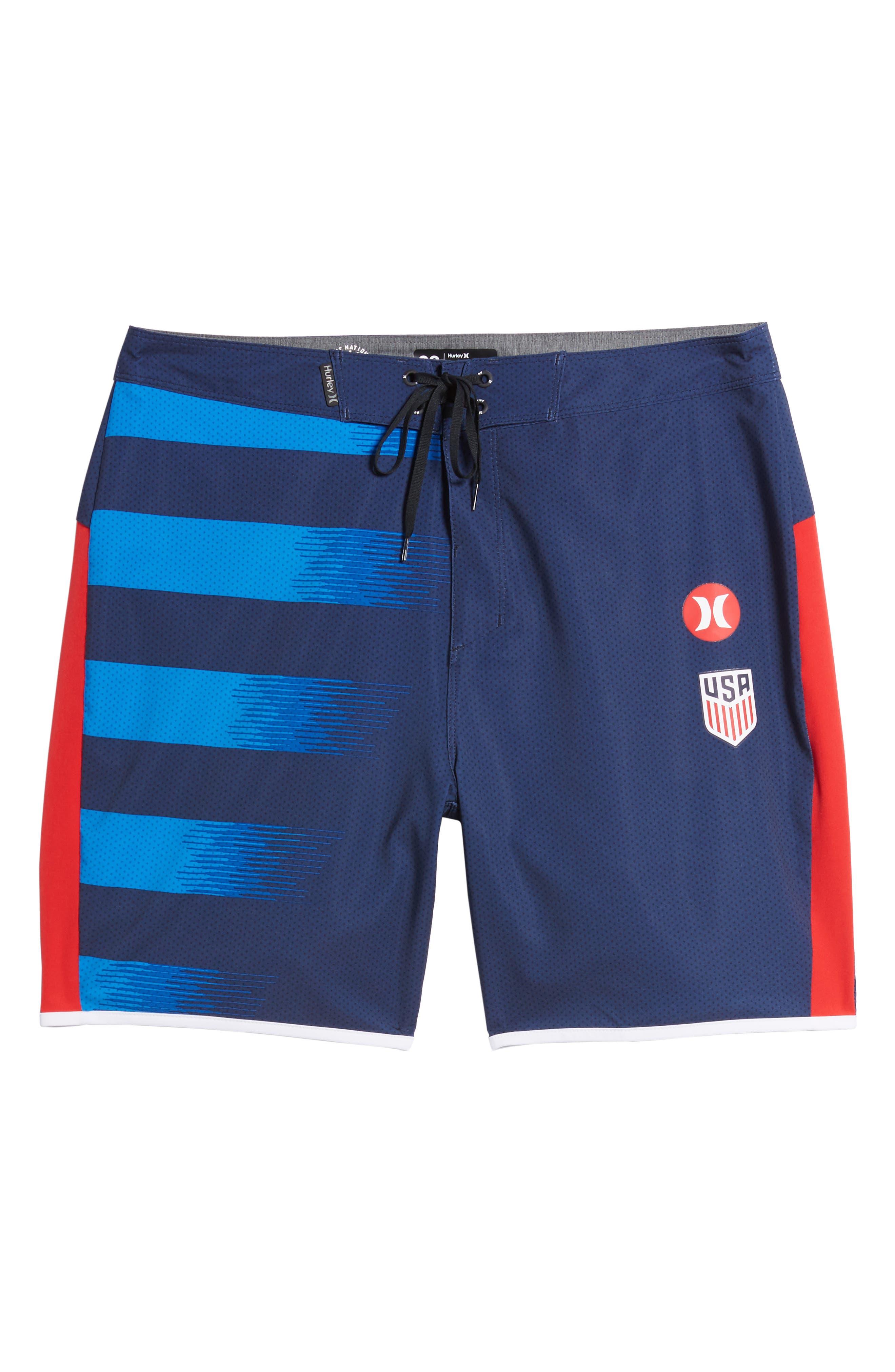 Phantom USA Away National Team Swim Shorts,                             Alternate thumbnail 6, color,                             Midnight Navy