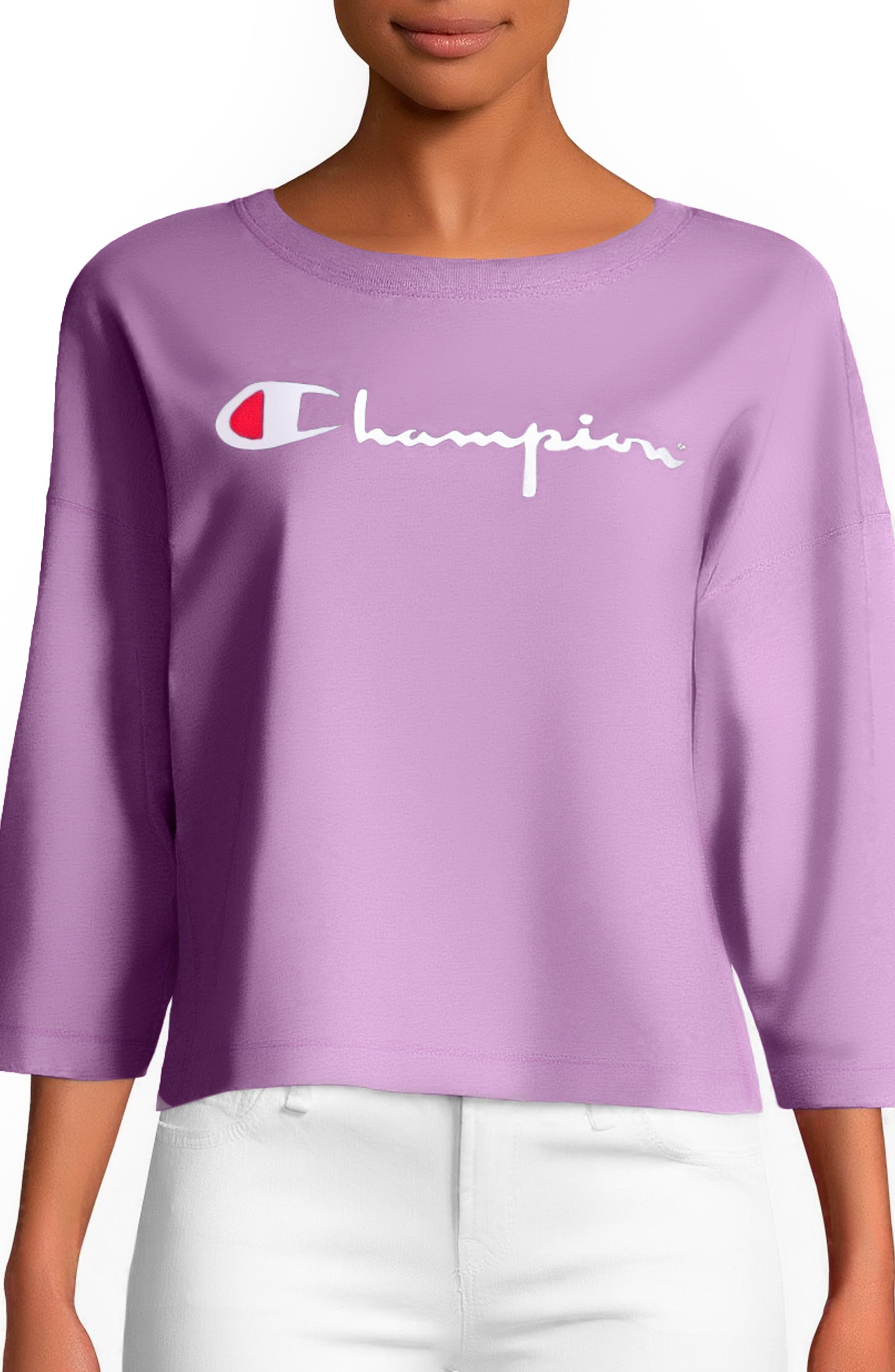 Logo Crop Tee,                         Main,                         color, Pink