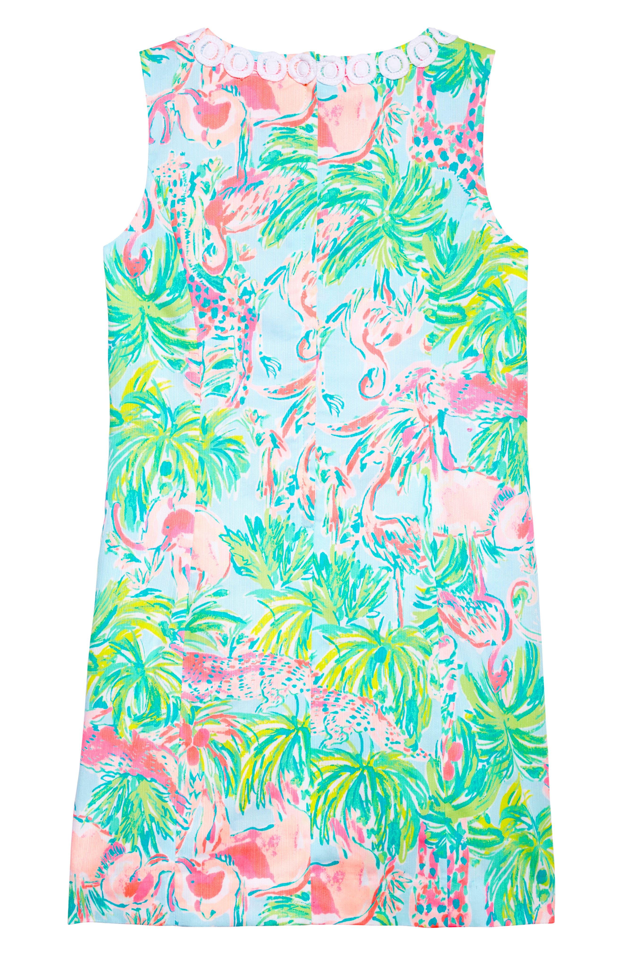 Mini Mila Shift Dress,                             Alternate thumbnail 2, color,                             Seasalt Blue On Parade