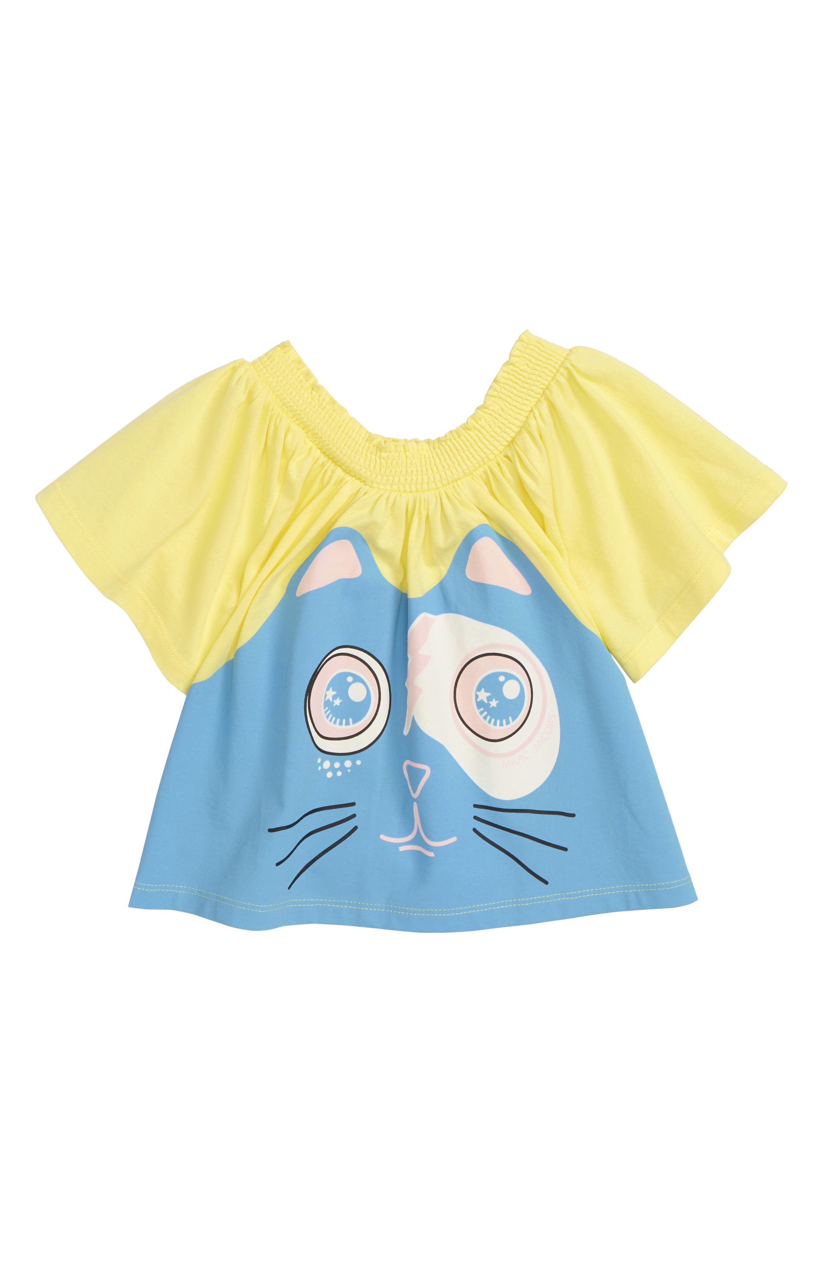 Funny Cat Top,                         Main,                         color, Funny Yellow