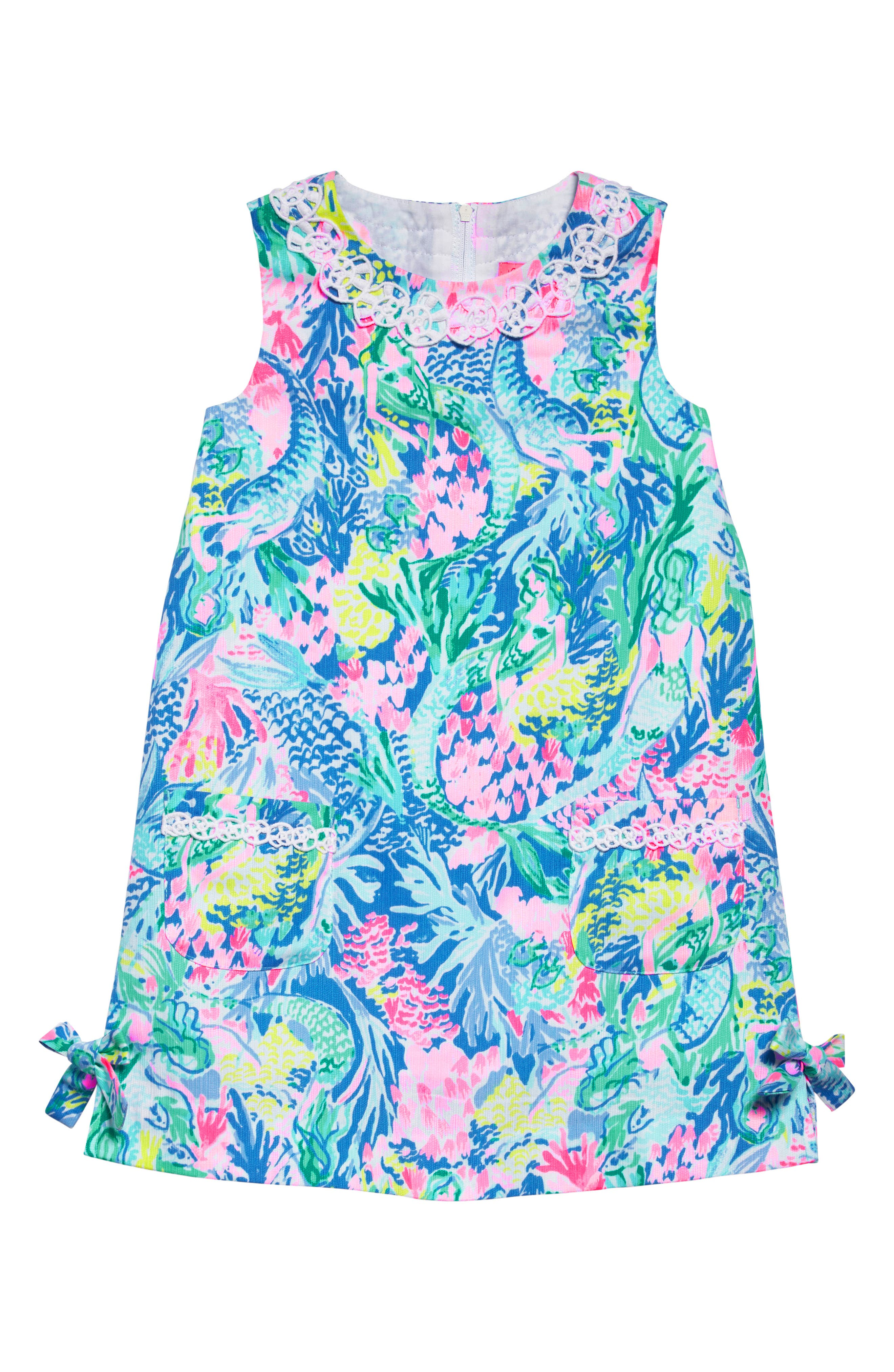 Little Lilly Classic Shift Dress,                         Main,                         color, Multi Mermaids Cove