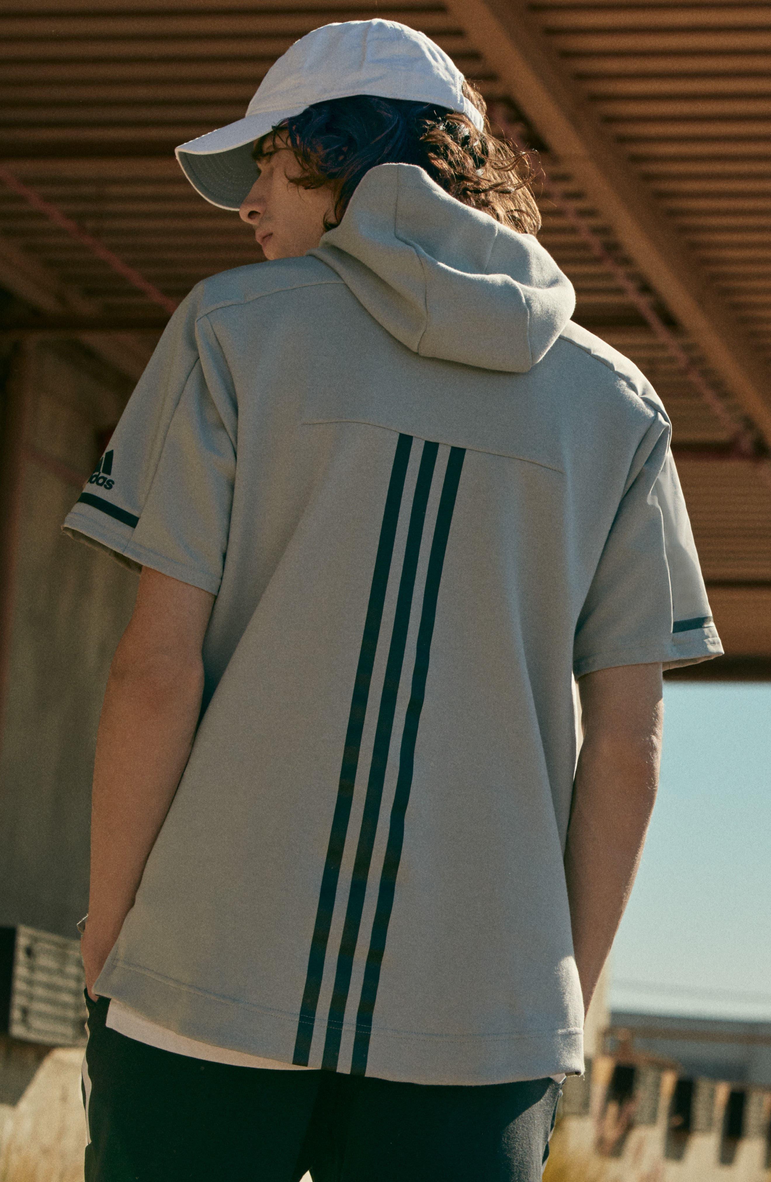 Alternate Image 3  - adidas SQD Short Sleeve Hoodie