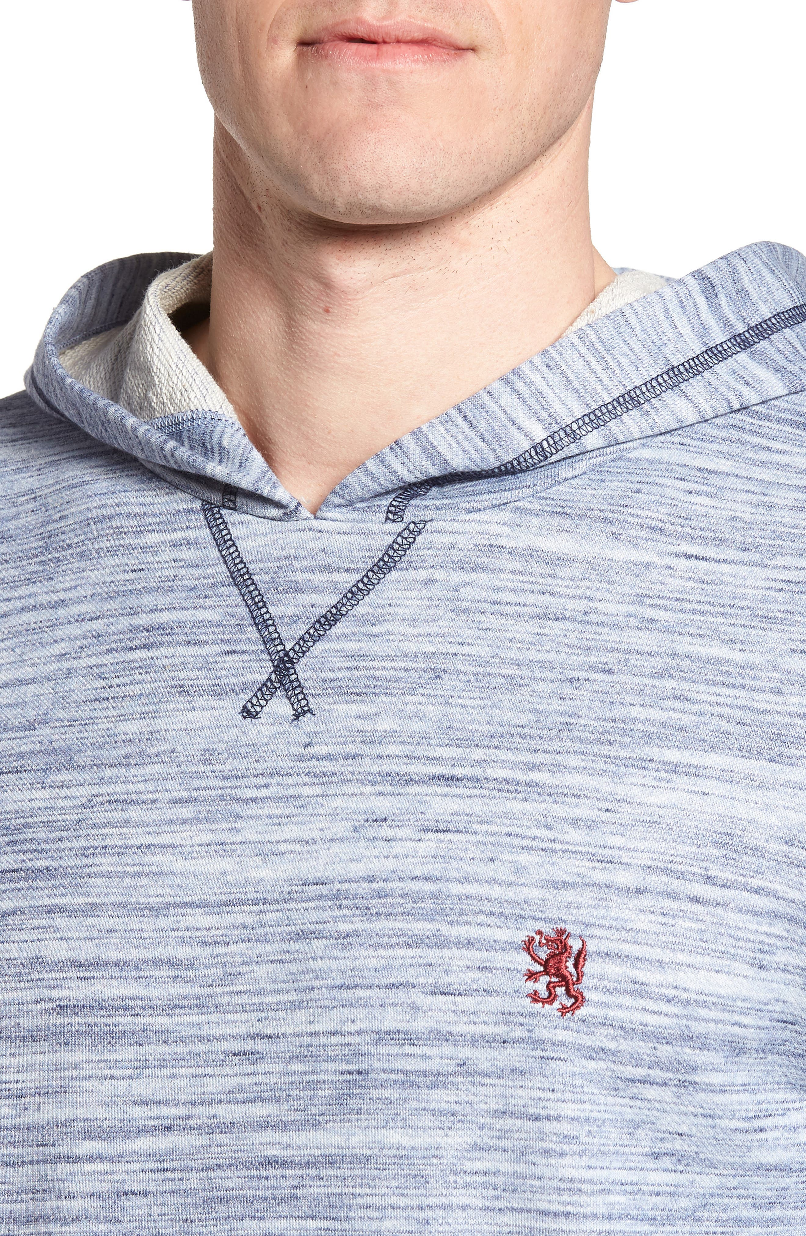 Swept in Waves Hoodie,                             Alternate thumbnail 4, color,                             Alfresco French Terry