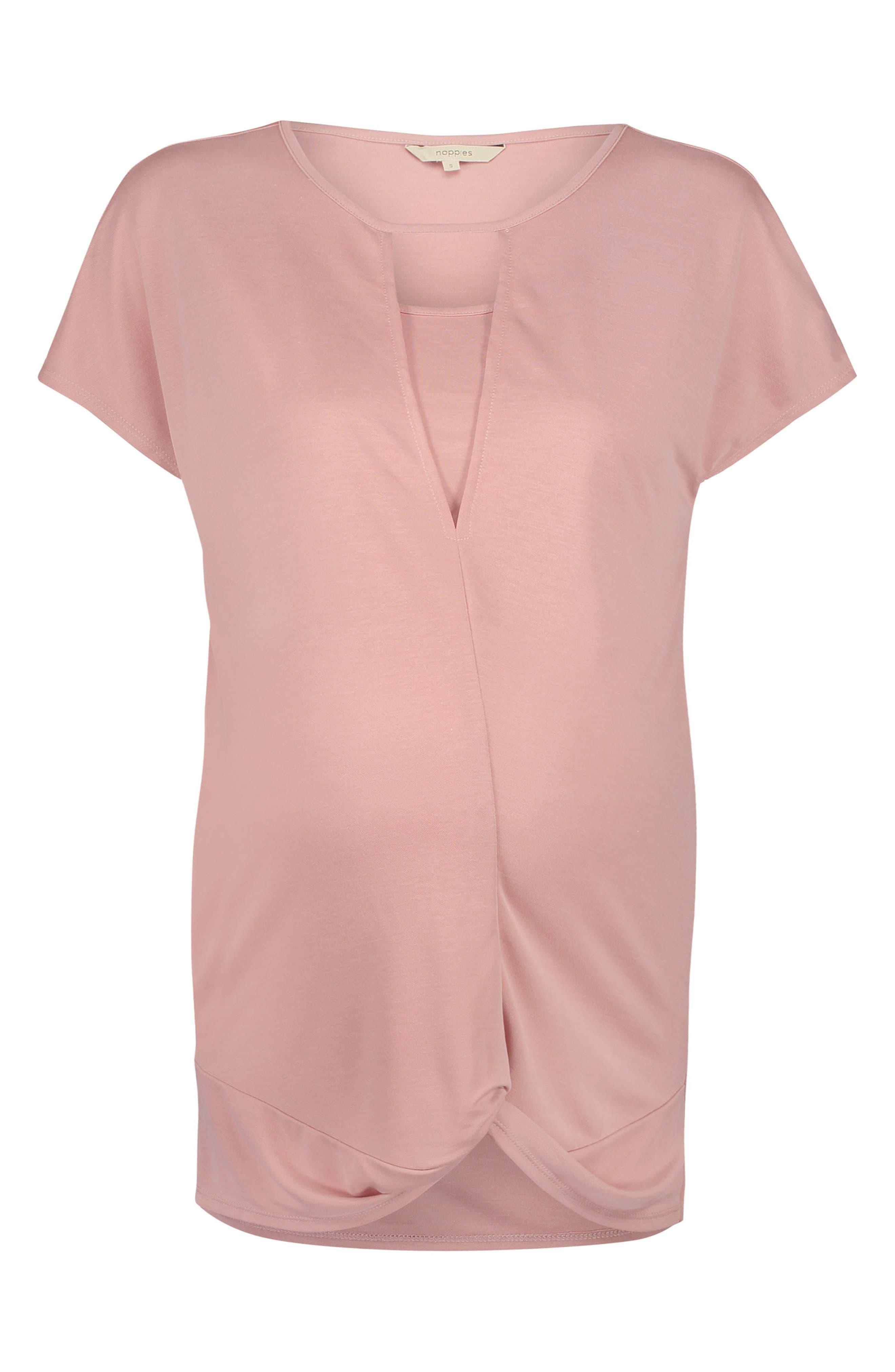 Adriana Maternity/Nursing Tee,                         Main,                         color, Blush