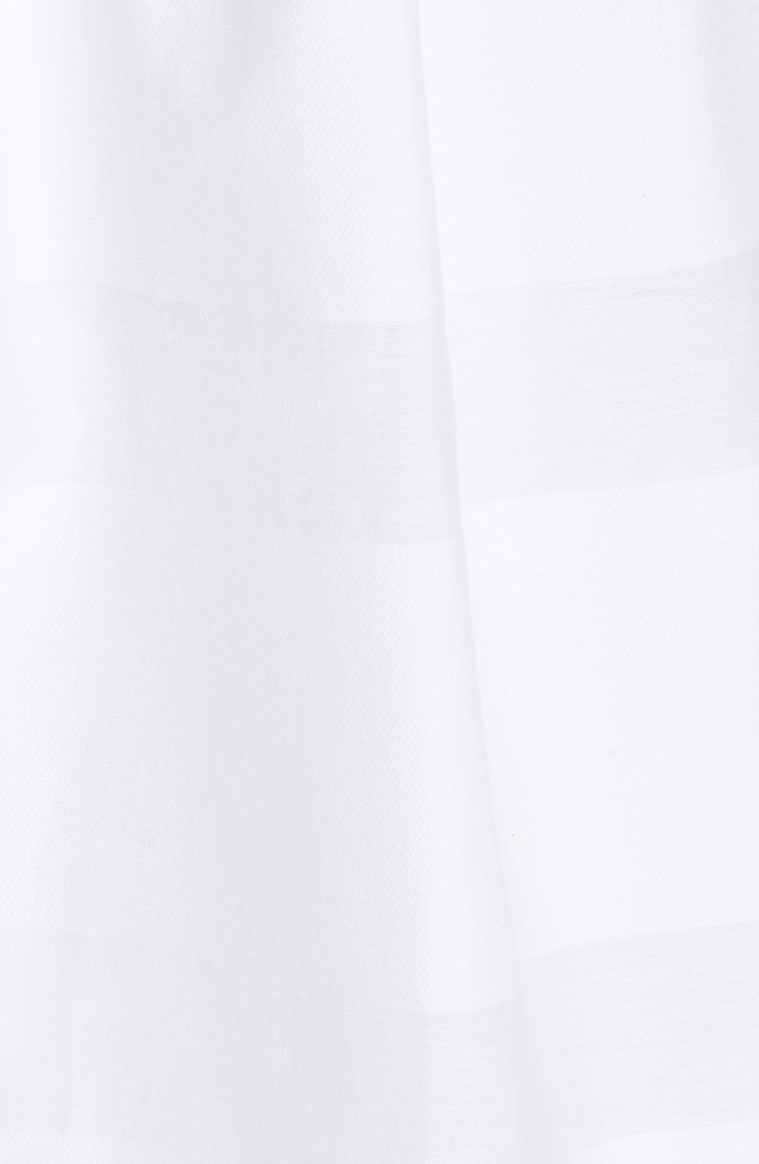 tonal stripe fit & flare dress,                             Alternate thumbnail 5, color,                             Fresh White