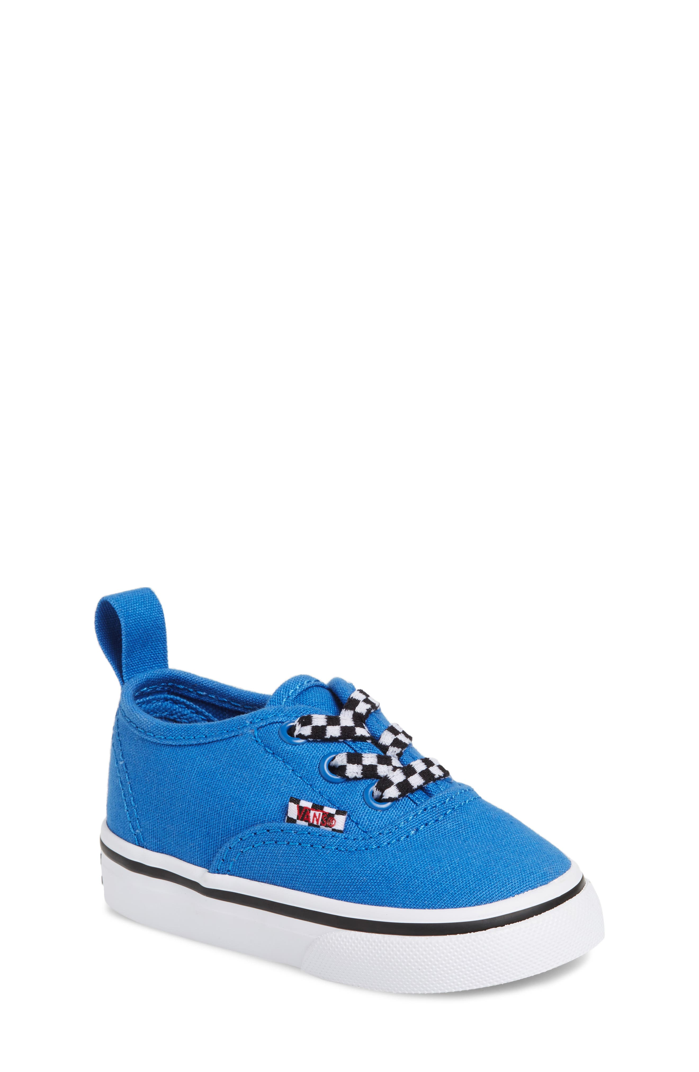 Authentic Sneaker,                             Main thumbnail 1, color,                             Blue/ White Check Lace