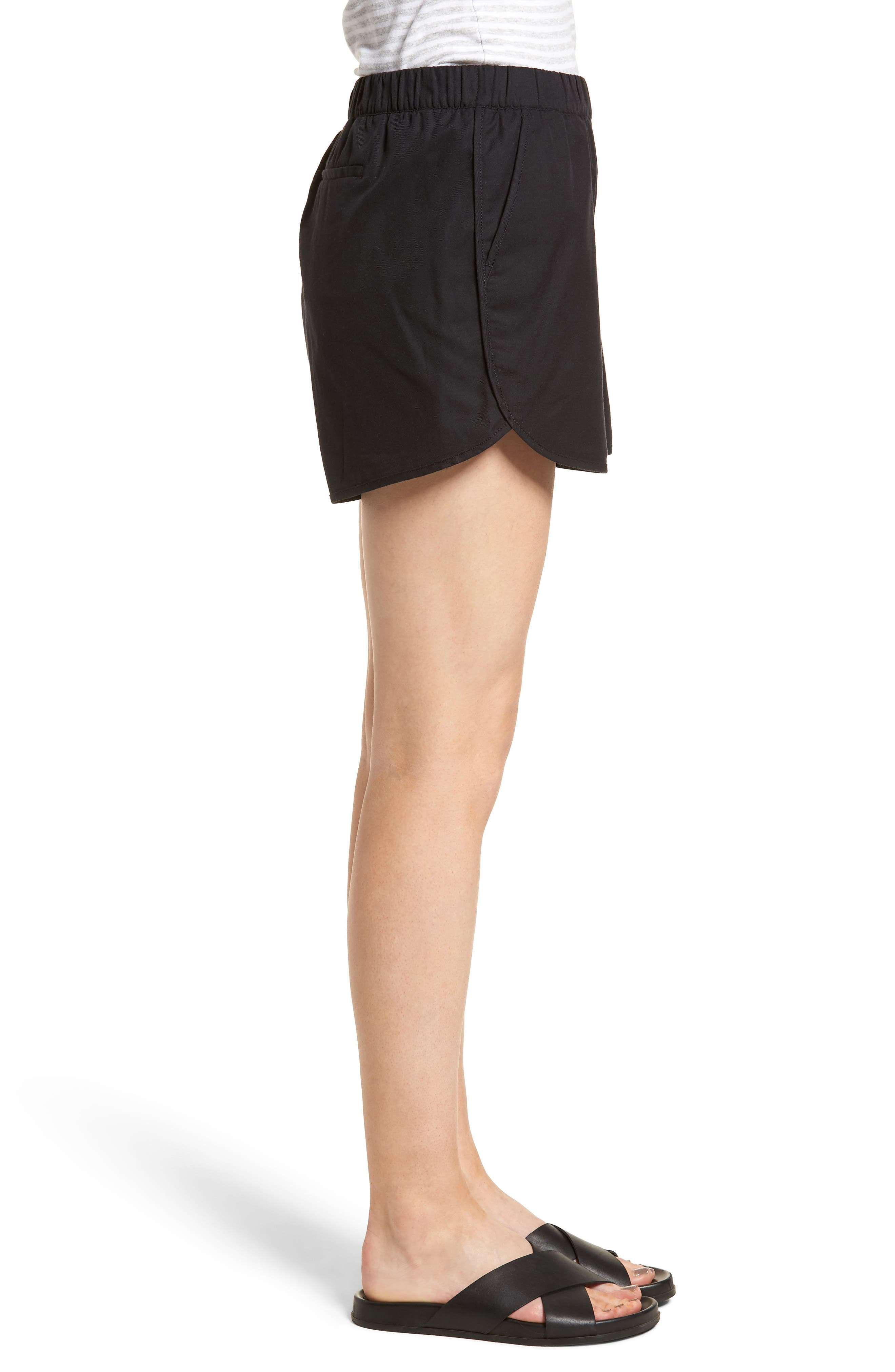 Pull-On Shorts,                             Alternate thumbnail 3, color,                             Almost Black