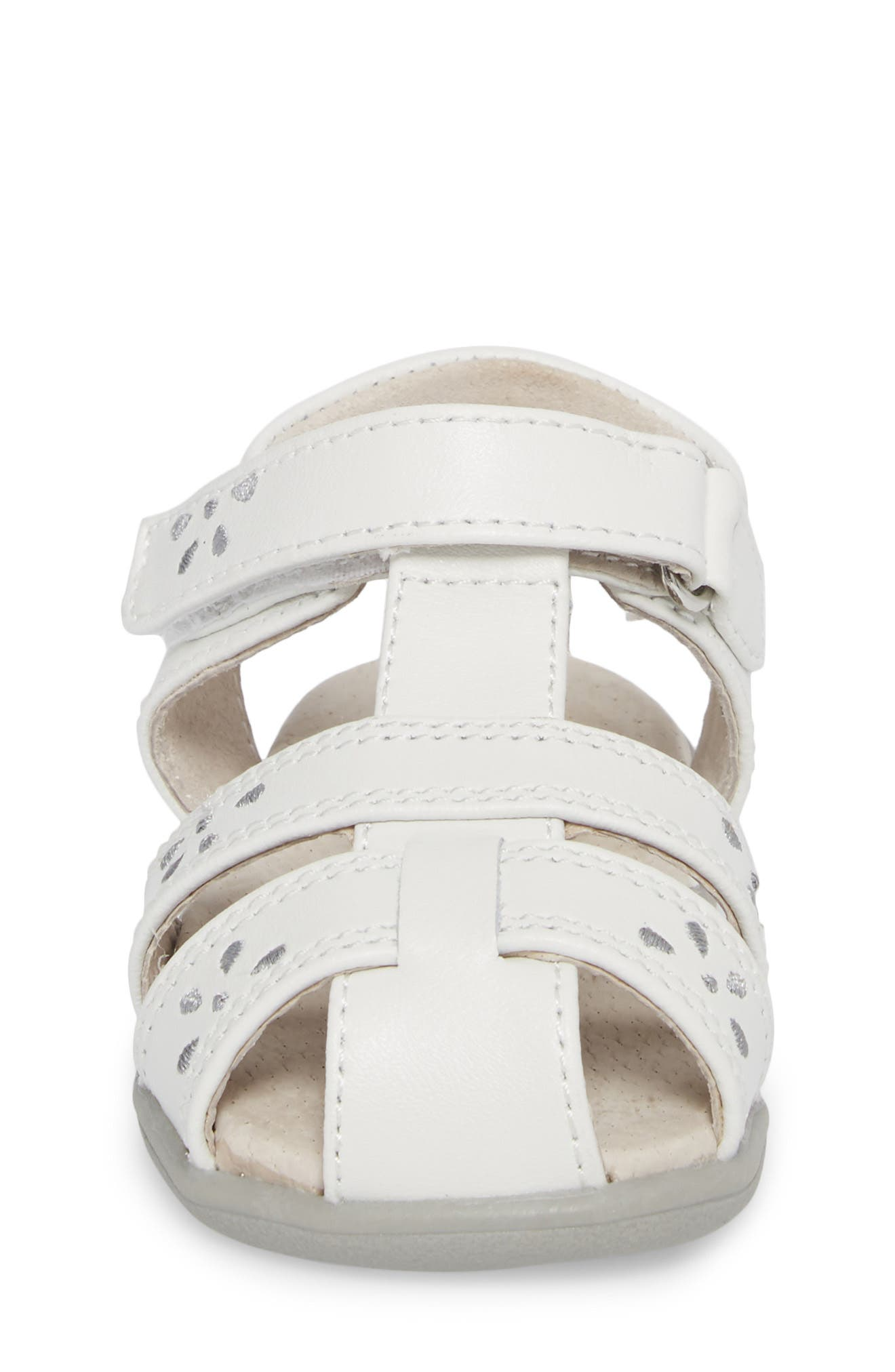 Gloria III Fisherman Sandal,                             Alternate thumbnail 4, color,                             White