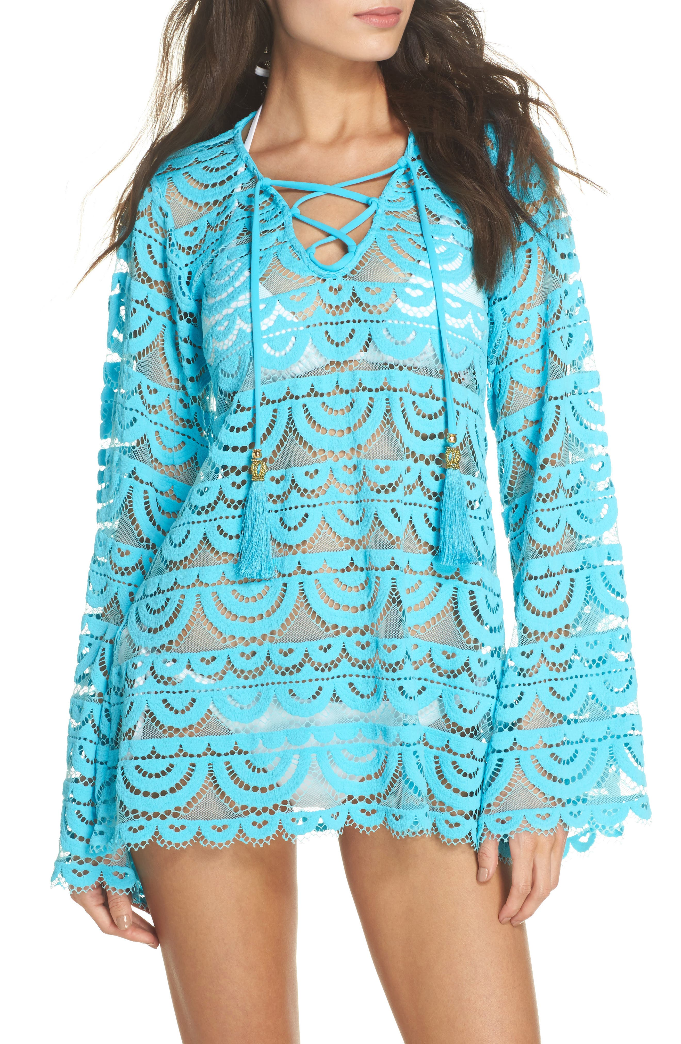 Noah Lace Cover-Up Tunic,                         Main,                         color, Marine