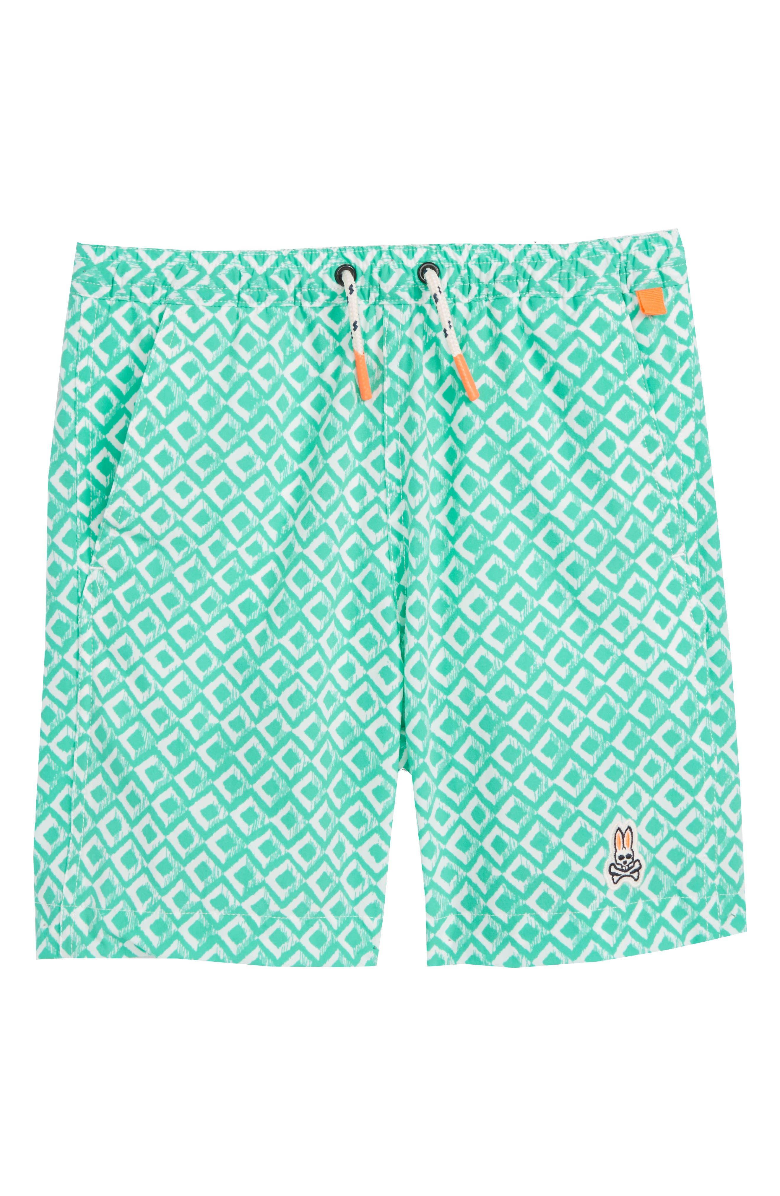 Drippy Diamond Swim Trunks,                         Main,                         color, Wave