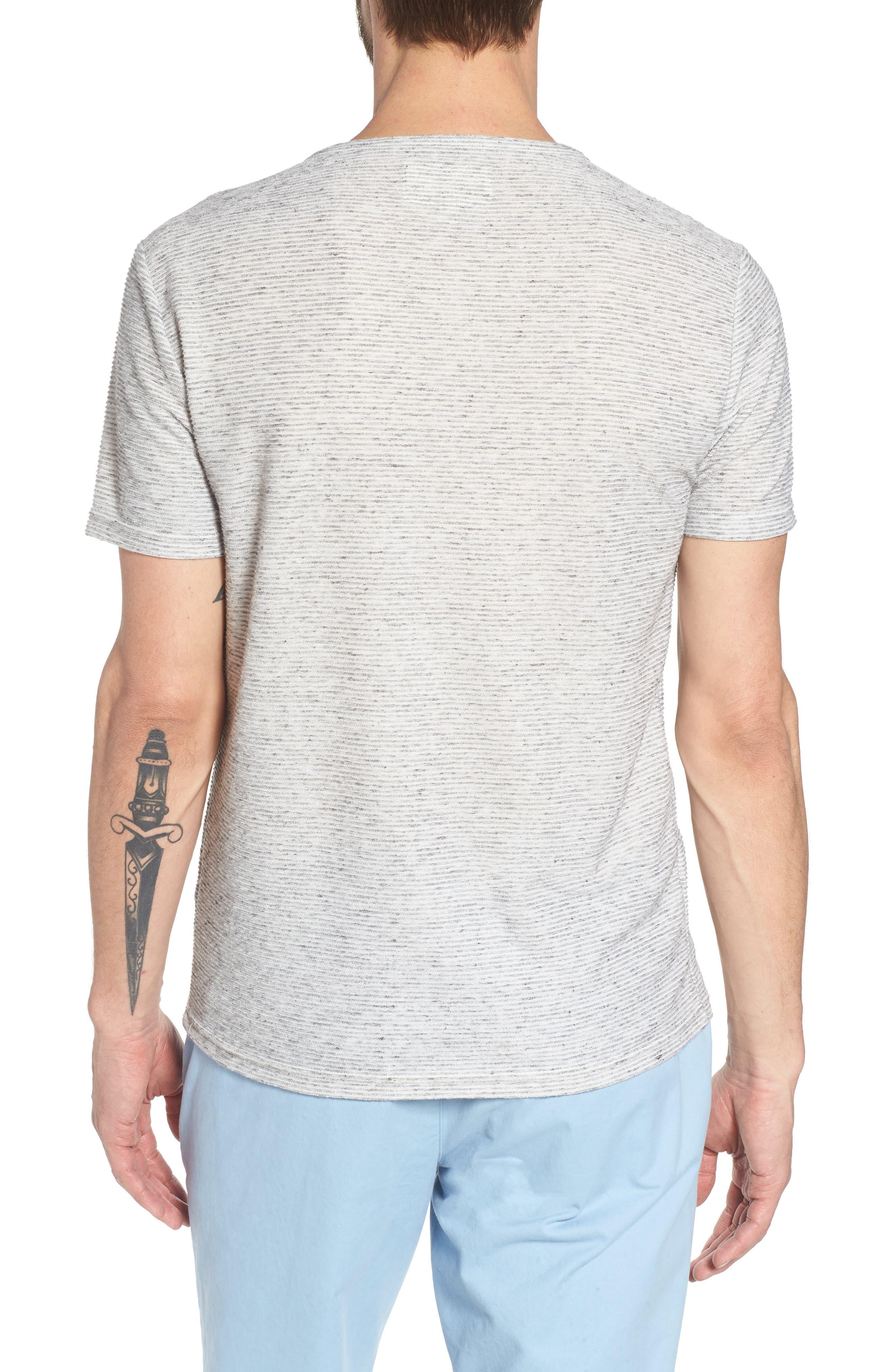 Metro Stripe Henley Shirt,                             Alternate thumbnail 2, color,                             Light Grey