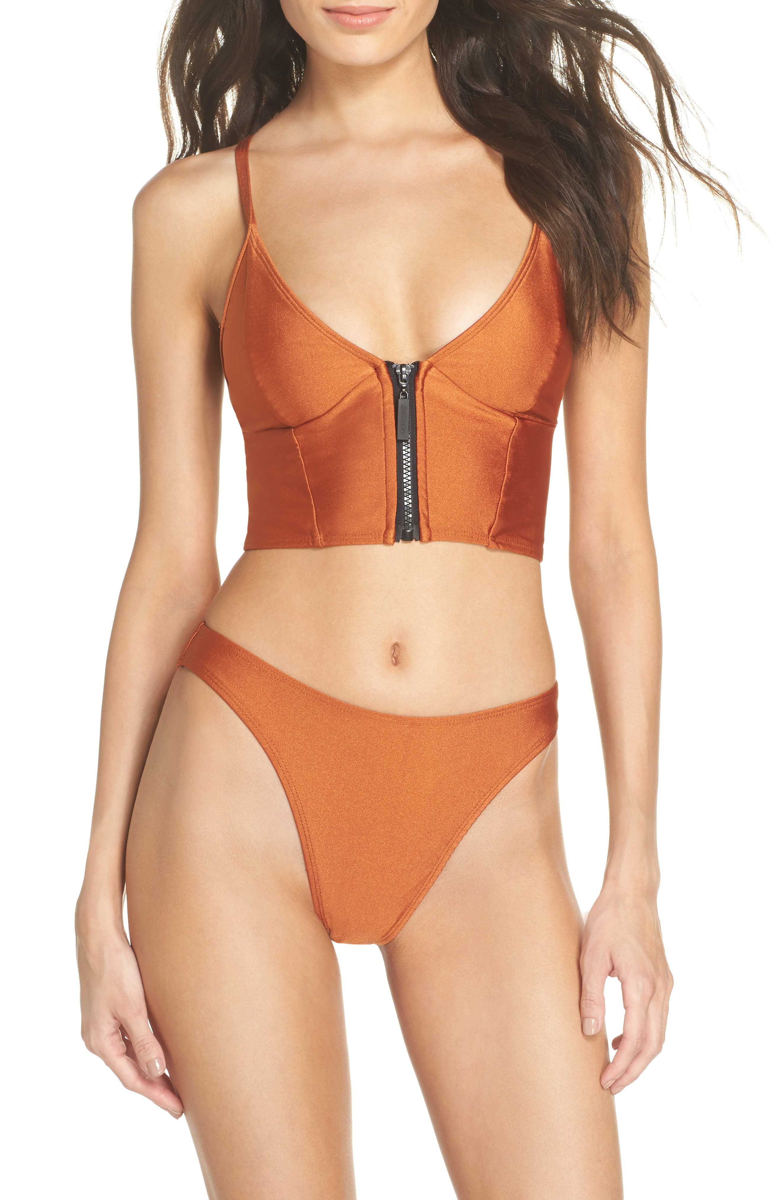 Lindsey Bikini Bottoms,                             Alternate thumbnail 5, color,                             Ginger Orange
