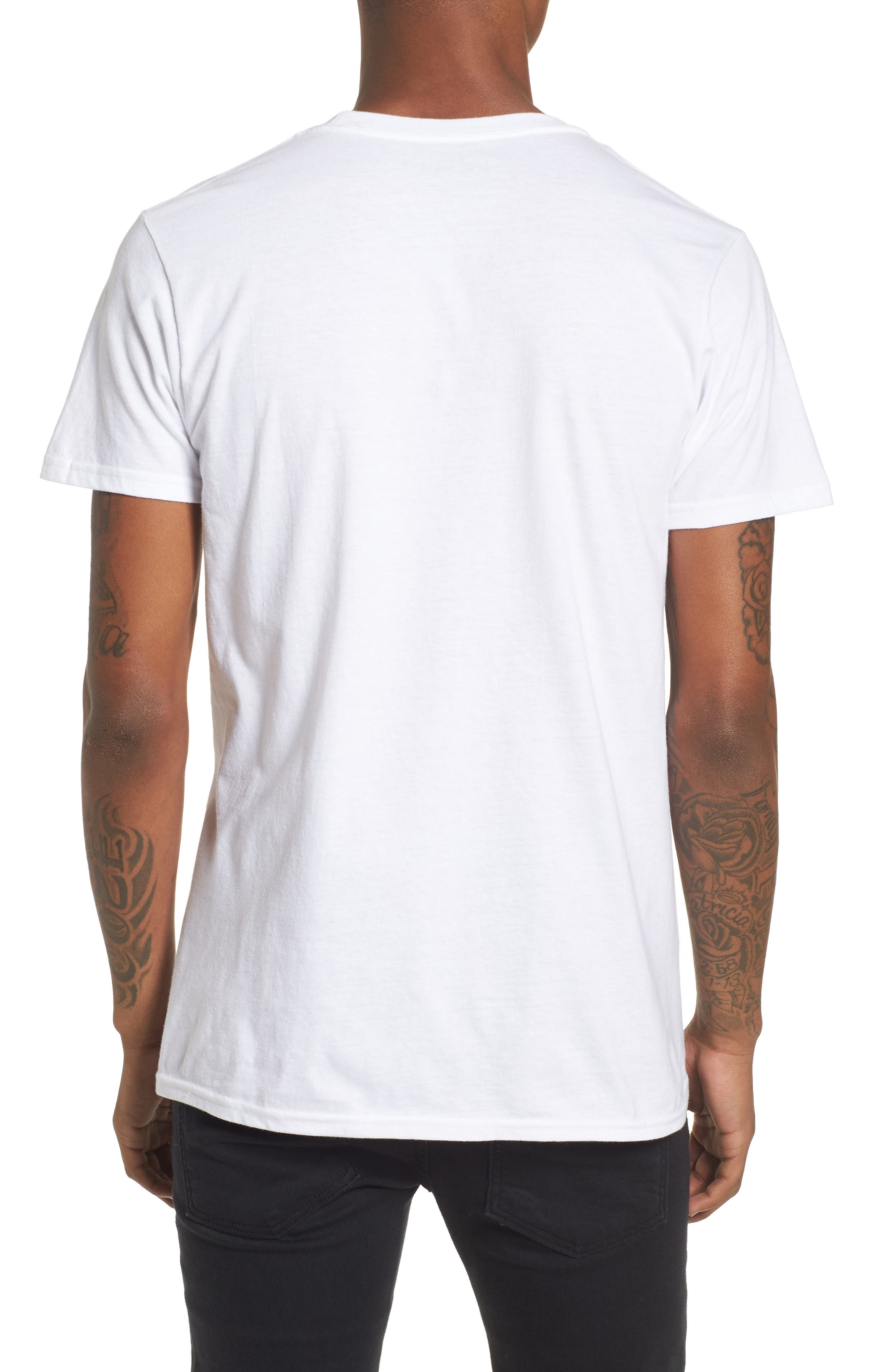 Aaliyah T-Shirt,                             Alternate thumbnail 2, color,                             White Tee Aaliyah