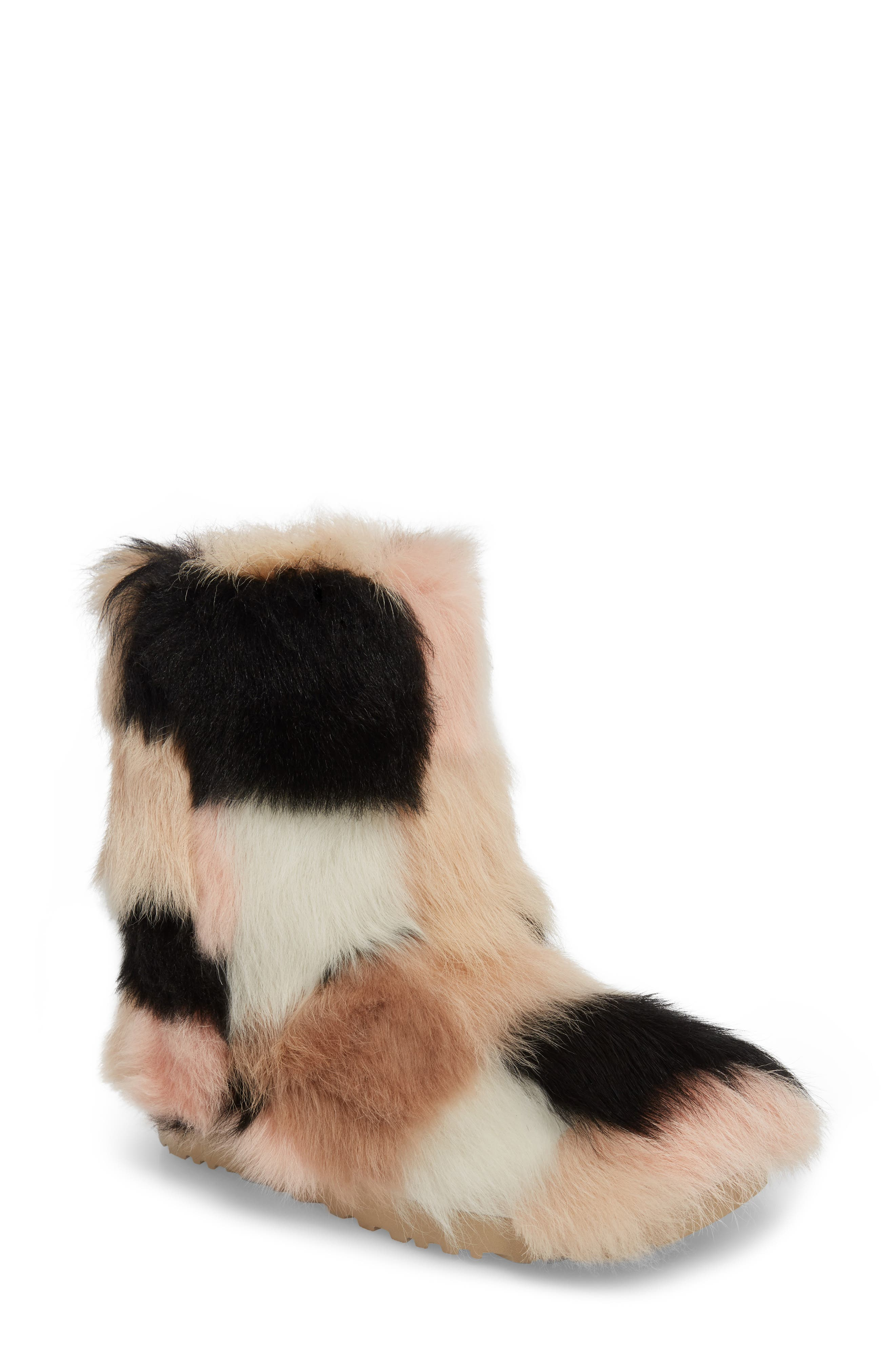 Shag It Crazy Genuine Toscana Shearling Classic Bootie,                             Main thumbnail 1, color,                             Natural