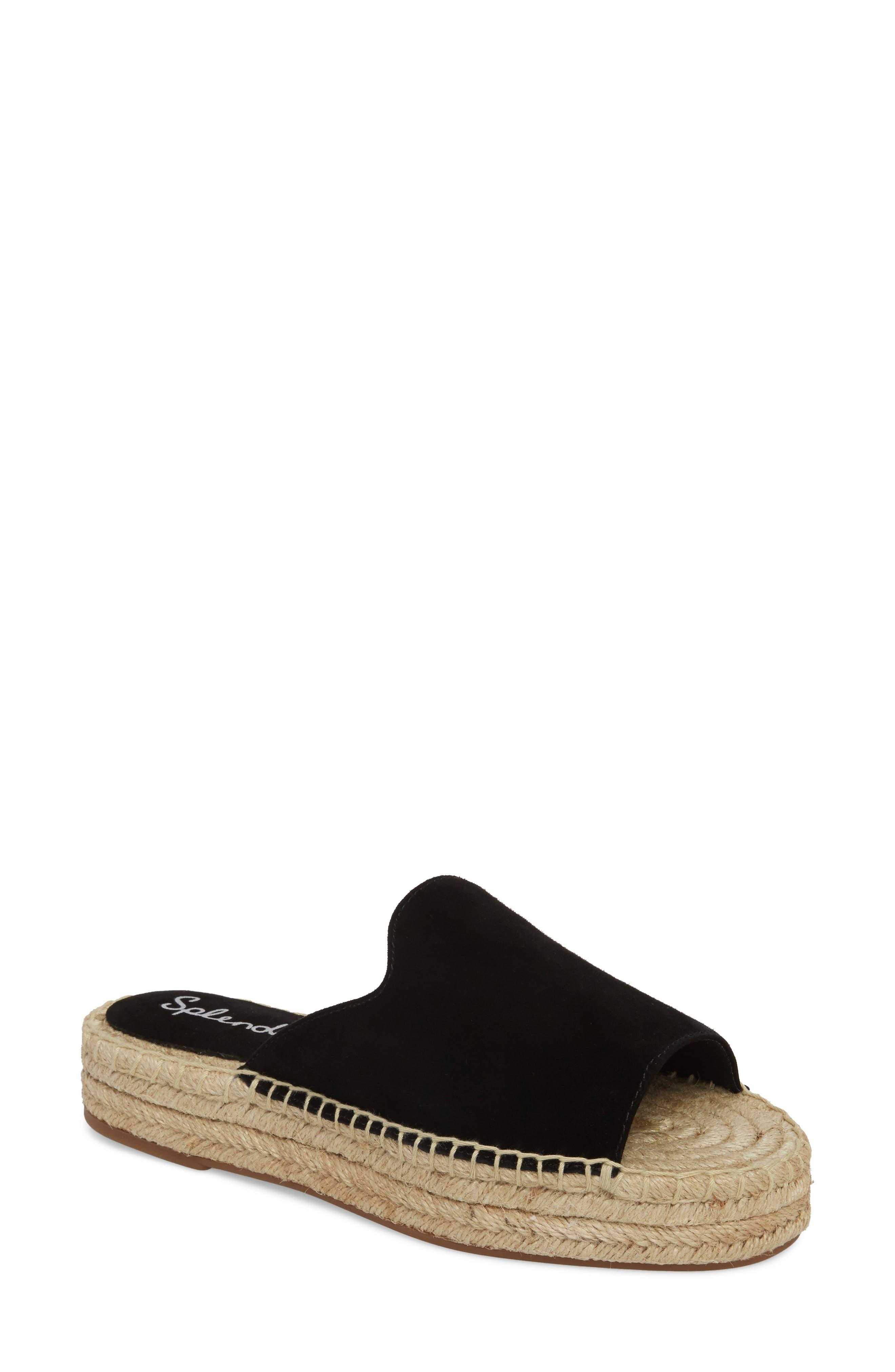 Splendid Women's Franci Suede Platform Espadrille Slide Sandals moOFDl